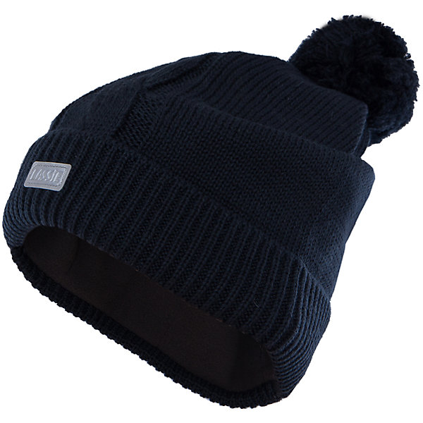 Шапка для мальчика LASSIEШапки и шарфы<br>Шапка «Бини» для детей известной финской марки.<br><br>- Мягкая и теплая ткань из смеси шерсти.<br><br>- Ветронепроницаемые вставки в области ушей.<br>- Мягкая теплая подкладка из флиса. <br>- Помпон сверху. <br>- Декоративная структура поверхности. <br>- Светоотражающая эмблема Lassie® спереди.  <br><br>Рекомендации по уходу: Придать первоначальную форму вo влажном виде. <br><br>Возможна усадка 5 %.Состав: 50% Шерсть, 50% полиакрил.<br><br>Ширина мм: 89<br>Глубина мм: 117<br>Высота мм: 44<br>Вес г: 155<br>Цвет: черный<br>Возраст от месяцев: 12<br>Возраст до месяцев: 24<br>Пол: Мужской<br>Возраст: Детский<br>Размер: 46-48,54-56,50-52<br>SKU: 4780689