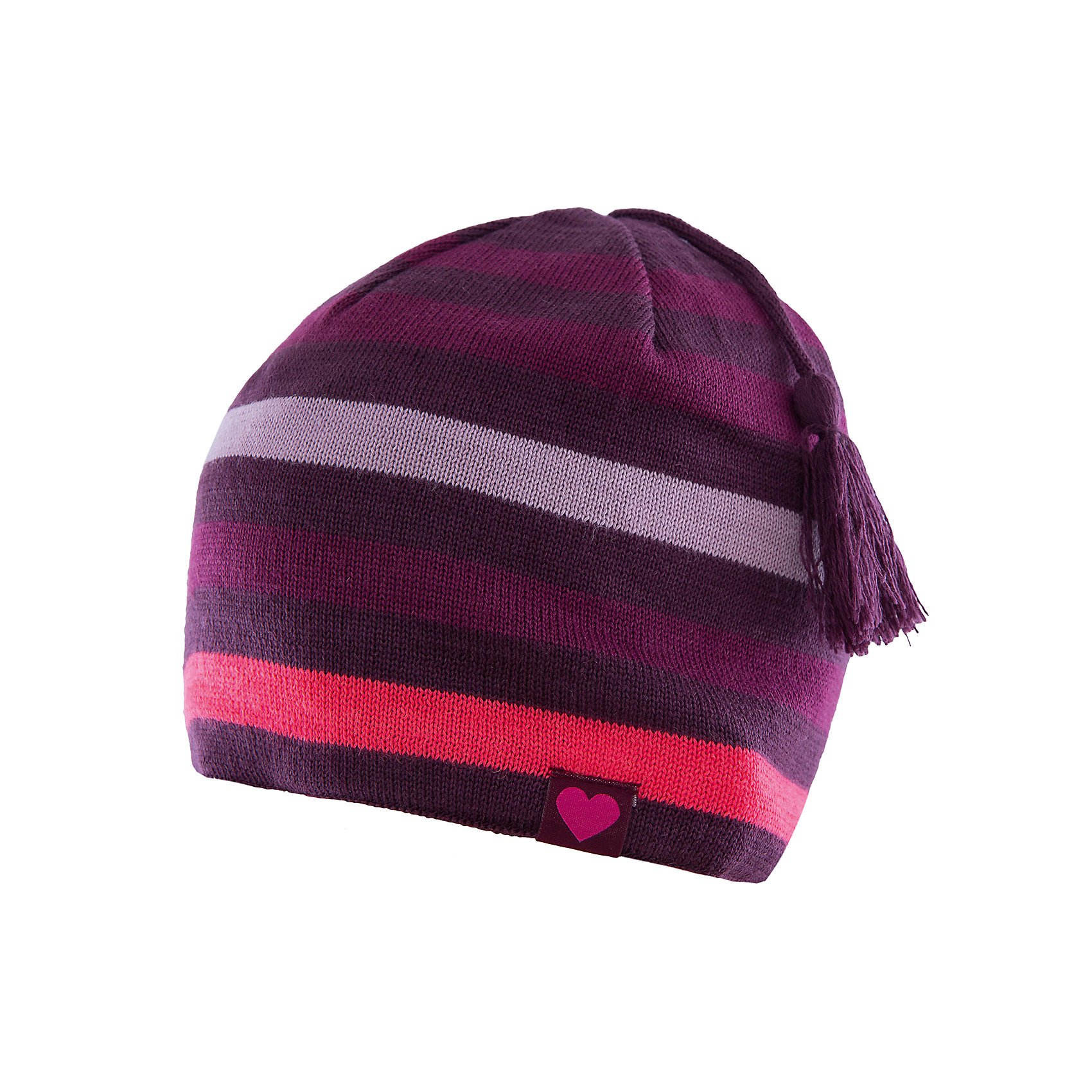 Шапка LASSIEШапки и шарфы<br>Шапка «Бини» для детей известной финской марки.<br><br>- Мягкая и теплая ткань из смеси шерсти.<br><br>- Ветронепроницаемые вставки в области ушей.<br>- Мягкая теплая подкладка из флиса. <br>- Помпон сверху. <br>- Декоративная структура поверхности. <br>- Светоотражающая эмблема Lassie® спереди.  <br><br>Рекомендации по уходу: Придать первоначальную форму вo влажном виде. <br><br>Возможна усадка 5 %.Состав: 50% Шерсть, 50% полиакрил.<br><br>Ширина мм: 89<br>Глубина мм: 117<br>Высота мм: 44<br>Вес г: 155<br>Цвет: фиолетовый<br>Возраст от месяцев: 12<br>Возраст до месяцев: 24<br>Пол: Женский<br>Возраст: Детский<br>Размер: 46-48,54-56,50-52<br>SKU: 4780697