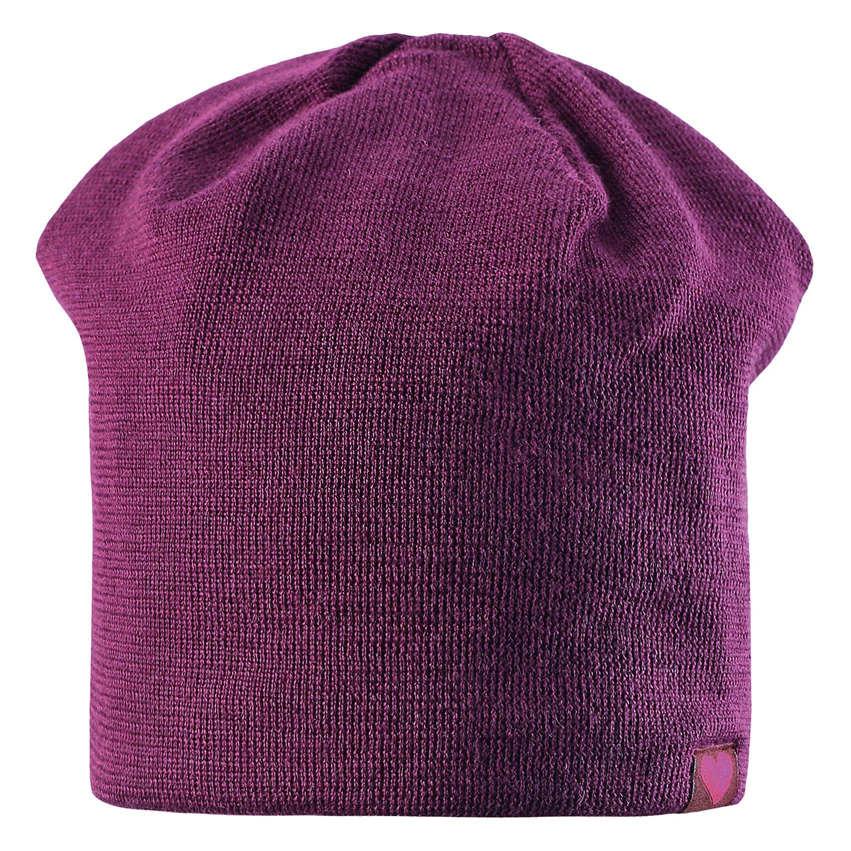 Шапка LASSIEШапки и шарфы<br>Шапка «Бини» для детей известной финской марки.<br><br>- Мягкая и теплая ткань из смеси шерсти.<br><br>- Ветронепроницаемые вставки в области ушей.<br>- Мягкая теплая подкладка из флиса. <br>- Помпон сверху. <br>- Декоративная структура поверхности. <br>- Светоотражающая эмблема Lassie® спереди.  <br><br>Рекомендации по уходу: Придать первоначальную форму вo влажном виде. <br><br>Возможна усадка 5 %.Состав: 50% Шерсть, 50% полиакрил.<br><br>Ширина мм: 89<br>Глубина мм: 117<br>Высота мм: 44<br>Вес г: 155<br>Цвет: фиолетовый<br>Возраст от месяцев: 12<br>Возраст до месяцев: 24<br>Пол: Женский<br>Возраст: Детский<br>Размер: 46-48,54-56,50-52<br>SKU: 4780709