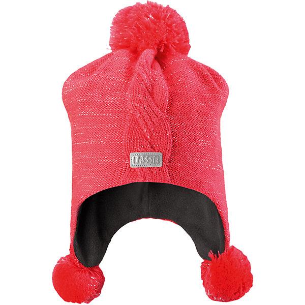 Шапка LASSIEШапки и шарфы<br>Шапка «Бини» для детей известной финской марки.<br><br>- Мягкая и теплая ткань из смеси шерсти.<br><br>- Ветронепроницаемые вставки в области ушей.<br>- Мягкая теплая подкладка из флиса. <br>- Помпон сверху. <br>- Декоративная структура поверхности. <br>- Светоотражающая эмблема Lassie® спереди.  <br><br>Рекомендации по уходу: Придать первоначальную форму вo влажном виде. <br><br>Возможна усадка 5 %.Состав: 50% Шерсть, 50% полиакрил.<br><br>Ширина мм: 89<br>Глубина мм: 117<br>Высота мм: 44<br>Вес г: 155<br>Цвет: коралловый<br>Возраст от месяцев: 12<br>Возраст до месяцев: 24<br>Пол: Женский<br>Возраст: Детский<br>Размер: 54-56,50-52,46-48<br>SKU: 4780749
