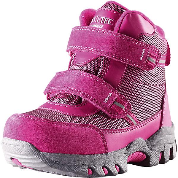 Ботинки для девочки  LASSIEОбувь<br>Зимние ботинки для малышей Lassietec®. <br><br>- Водонепроницаемая зимняя обувь. <br>- Верх из натуральной замши (из телячьей кожи), синтетического материала и текстиля. <br>- Подошва из термопластичного каучука обеспечивает хорошее сцепление с поверхностью. <br>- Подкладка из искусственного меха. <br>- Съемные стельки. <br>- Простая застежка на липучке, имеющая две точки крепления. <br>- Светоотражающие детали.<br><br>Храните обувь в вертикальном положении при комнатной температуре. Сушить обувь всегда следует при комнатной температуре: вынув съемные стельки. Стельки следует время от времени заменять на новые. Налипшую грязь можно счищать щеткой или влажной тряпкой. Перед использованием обувь рекомендуется обрабатывать специальными защитными средствами.<br><br>Состав: Подошва: Термопластиковая резина, Верх: 70% ПЭ 20% ПУ 10% Кожа.<br>Ширина мм: 262; Глубина мм: 176; Высота мм: 97; Вес г: 427; Цвет: розовый; Возраст от месяцев: 36; Возраст до месяцев: 48; Пол: Женский; Возраст: Детский; Размер: 27,22,26,25,24,23; SKU: 4780902;