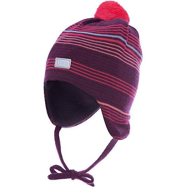 Шапка LASSIEШапки и шарфы<br>Шапка «Бини» для малышей известной финской марки.<br><br>- Мягкая и теплая ткань из смеси шерсти.<br>- Ветронепроницаемые вставки в области ушей. <br>- Мягкая теплая подкладка из флиса.<br>- Спортивные полоски. Помпон сверху.<br>- Светоотражающая эмблема Lassie® спереди. <br><br>Рекомендации по уходу: Придать первоначальную форму вo влажном виде. Возможна усадка 5 %.<br><br>Состав: 50% Шерсть, 50% полиакрил.<br><br>Ширина мм: 89<br>Глубина мм: 117<br>Высота мм: 44<br>Вес г: 155<br>Цвет: красный<br>Возраст от месяцев: 3<br>Возраст до месяцев: 6<br>Пол: Женский<br>Возраст: Детский<br>Размер: 42-44,50-52,44-46,46-48<br>SKU: 4780964