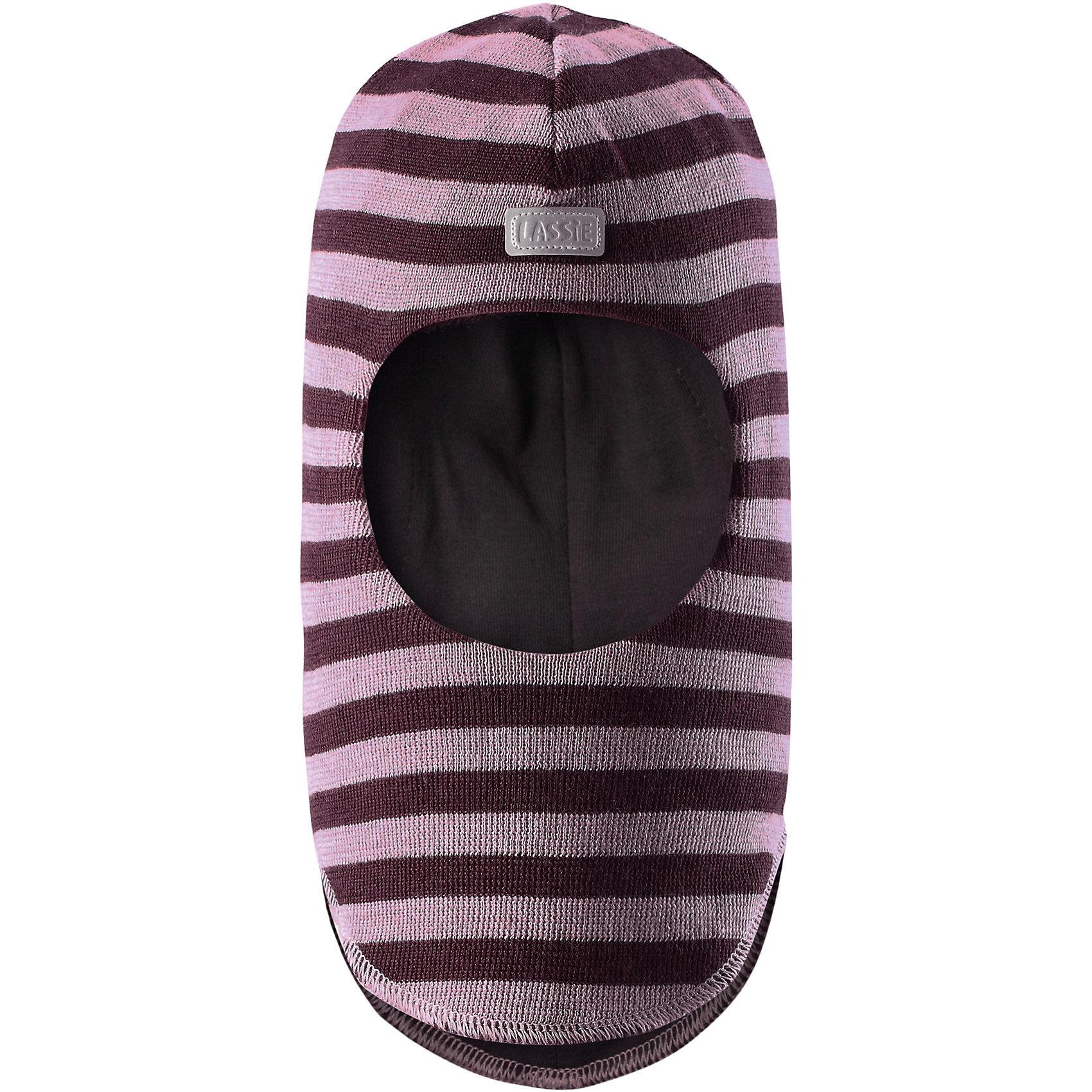Шапка LASSIEШапки и шарфы<br>Шапка-шлем для малышей известной финской марки.<br><br>- Мягкая и теплая ткань из смеси шерсти.<br>- Ветронепроницаемые вставки в области ушей.<br>- Мягкая подкладка из хлопка и эластана. <br>- Узор из цветных полос. <br>- Светоотражающая эмблема Lassie® спереди.<br><br> Рекомендации по уходу: Придать первоначальную форму вo влажном виде. Возможна усадка 5 %.<br><br>Состав: 50% Шерсть, 50% полиакрил.<br><br>Ширина мм: 89<br>Глубина мм: 117<br>Высота мм: 44<br>Вес г: 155<br>Цвет: темно-розовый<br>Возраст от месяцев: 6<br>Возраст до месяцев: 12<br>Пол: Женский<br>Возраст: Детский<br>Размер: 44-46,54-56,50-52,46-48<br>SKU: 4780999