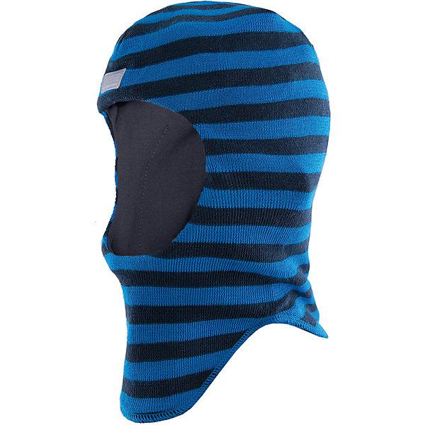 Шапка для мальчика LASSIEШапки и шарфы<br>Шапка-шлем для малышей известной финской марки.<br><br>- Мягкая и теплая ткань из смеси шерсти.<br>- Ветронепроницаемые вставки в области ушей.<br>- Мягкая подкладка из хлопка и эластана. <br>- Узор из цветных полос. <br>- Светоотражающая эмблема Lassie® спереди.<br><br> Рекомендации по уходу: Придать первоначальную форму вo влажном виде. Возможна усадка 5 %.<br><br>Состав: 50% Шерсть, 50% полиакрил.<br>Ширина мм: 89; Глубина мм: 117; Высота мм: 44; Вес г: 155; Цвет: синий; Возраст от месяцев: 6; Возраст до месяцев: 12; Пол: Мужской; Возраст: Детский; Размер: 44-46,54-56,50-52,46-48; SKU: 4781004;
