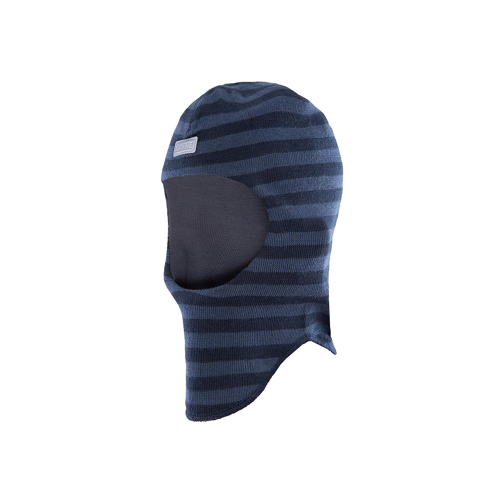 Шапка для мальчика LASSIEШапки и шарфы<br>Шапка-шлем для малышей известной финской марки.<br><br>- Мягкая и теплая ткань из смеси шерсти.<br>- Ветронепроницаемые вставки в области ушей.<br>- Мягкая подкладка из хлопка и эластана. <br>- Узор из цветных полос. <br>- Светоотражающая эмблема Lassie® спереди.<br><br> Рекомендации по уходу: Придать первоначальную форму вo влажном виде. Возможна усадка 5 %.<br><br>Состав: 50% Шерсть, 50% полиакрил.<br><br>Ширина мм: 89<br>Глубина мм: 117<br>Высота мм: 44<br>Вес г: 155<br>Цвет: черный<br>Возраст от месяцев: 6<br>Возраст до месяцев: 12<br>Пол: Мужской<br>Возраст: Детский<br>Размер: 44-46,54-56,46-48,50-52<br>SKU: 4781009