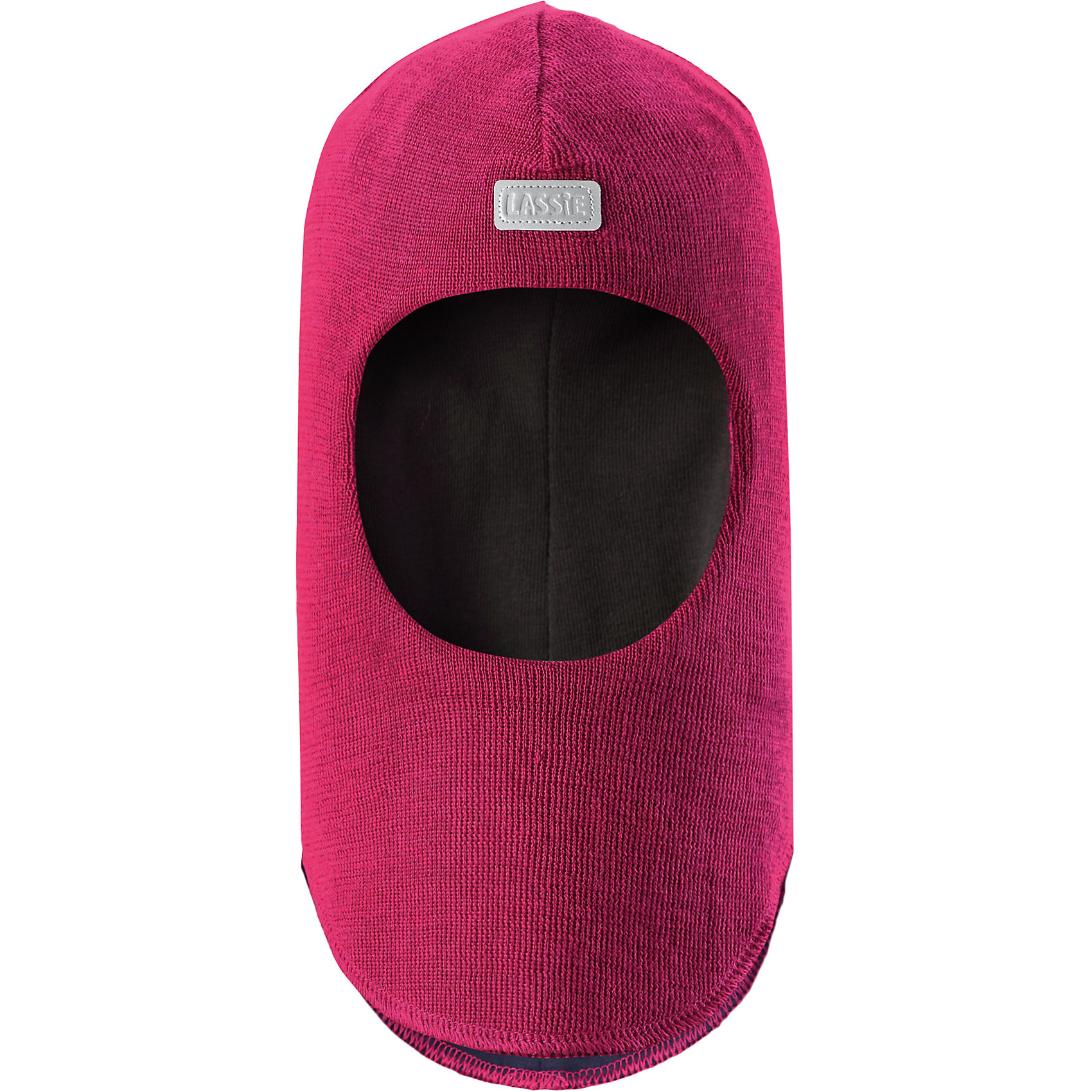 Шапка LASSIEШапки и шарфы<br>Шапка-шлем для малышей известной финской марки.<br><br>- Мягкая и теплая ткань из смеси шерсти.<br>- Ветронепроницаемые вставки в области ушей.<br>- Мягкая подкладка из хлопка и эластана. <br>- Узор из цветных полос. <br>- Светоотражающая эмблема Lassie® спереди.<br><br> Рекомендации по уходу: Придать первоначальную форму вo влажном виде. Возможна усадка 5 %.<br><br>Состав: 50% Шерсть, 50% полиакрил.<br><br>Ширина мм: 89<br>Глубина мм: 117<br>Высота мм: 44<br>Вес г: 155<br>Цвет: малиновый<br>Возраст от месяцев: 6<br>Возраст до месяцев: 12<br>Пол: Женский<br>Возраст: Детский<br>Размер: 44-46,54-56,50-52,46-48<br>SKU: 4781014