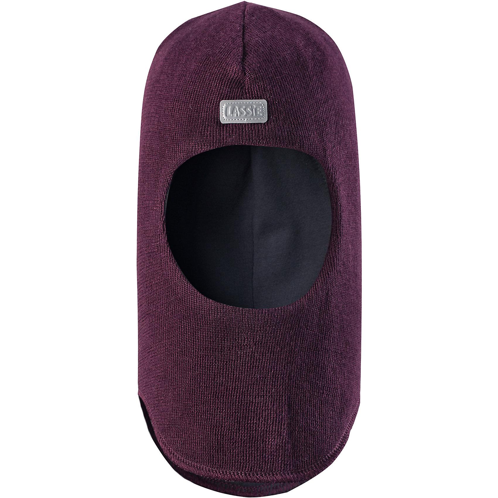 Шапка LASSIEШапка-шлем для малышей известной финской марки.<br><br>- Мягкая и теплая ткань из смеси шерсти.<br>- Ветронепроницаемые вставки в области ушей.<br>- Мягкая подкладка из хлопка и эластана. <br>- Узор из цветных полос. <br>- Светоотражающая эмблема Lassie® спереди.<br><br> Рекомендации по уходу: Придать первоначальную форму вo влажном виде. Возможна усадка 5 %.<br><br>Состав: 50% Шерсть, 50% полиакрил.<br><br>Ширина мм: 89<br>Глубина мм: 117<br>Высота мм: 44<br>Вес г: 155<br>Цвет: фиолетовый<br>Возраст от месяцев: 6<br>Возраст до месяцев: 12<br>Пол: Женский<br>Возраст: Детский<br>Размер: 44-46,54-56,50-52,46-48<br>SKU: 4781019