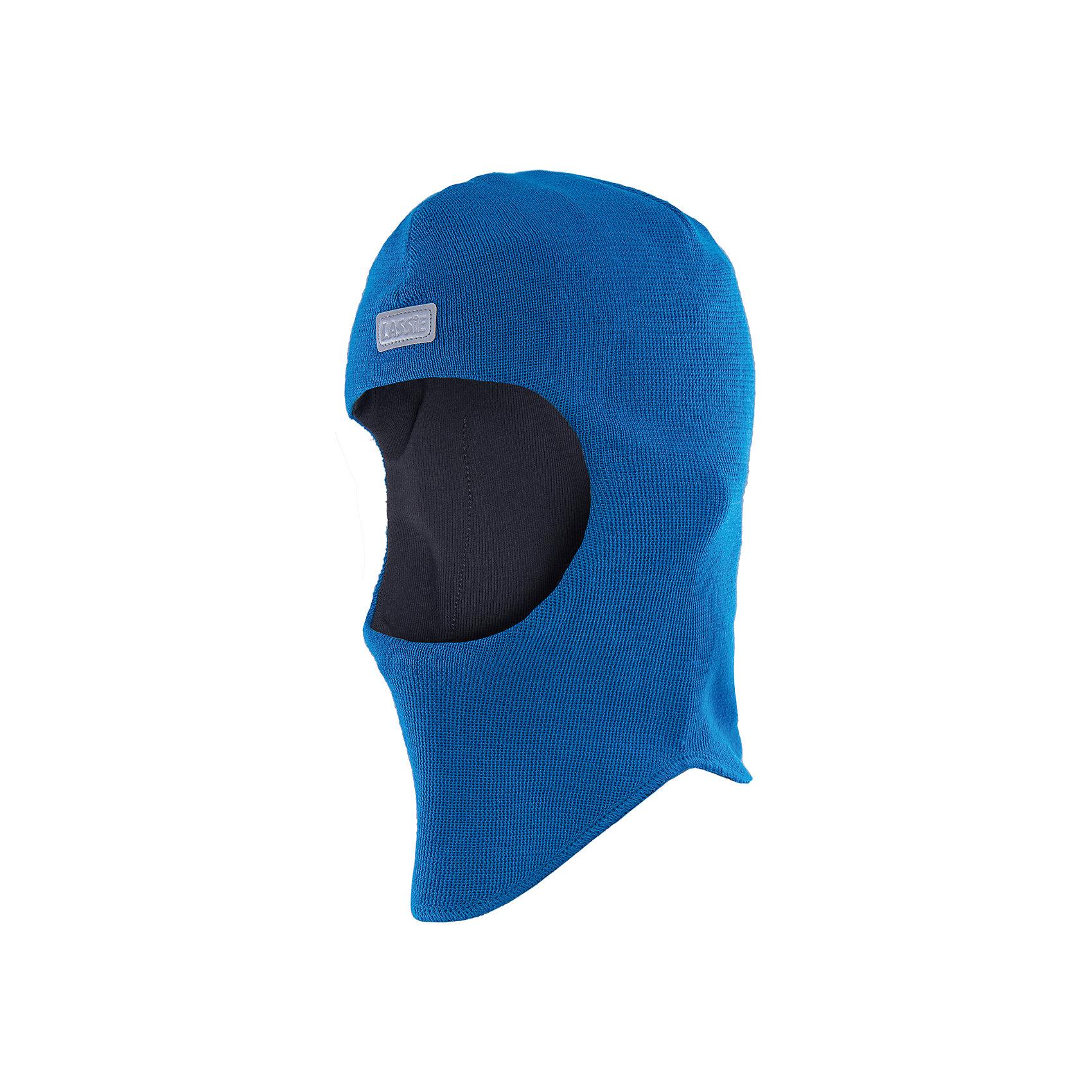 Шапка для мальчика LASSIEШапки и шарфы<br>Шапка-шлем для малышей известной финской марки.<br><br>- Мягкая и теплая ткань из смеси шерсти.<br>- Ветронепроницаемые вставки в области ушей.<br>- Мягкая подкладка из хлопка и эластана. <br>- Узор из цветных полос. <br>- Светоотражающая эмблема Lassie® спереди.<br><br> Рекомендации по уходу: Придать первоначальную форму вo влажном виде. Возможна усадка 5 %.<br><br>Состав: 50% Шерсть, 50% полиакрил.<br><br>Ширина мм: 89<br>Глубина мм: 117<br>Высота мм: 44<br>Вес г: 155<br>Цвет: синий<br>Возраст от месяцев: 6<br>Возраст до месяцев: 12<br>Пол: Мужской<br>Возраст: Детский<br>Размер: 44-46,54-56,50-52,46-48<br>SKU: 4781024