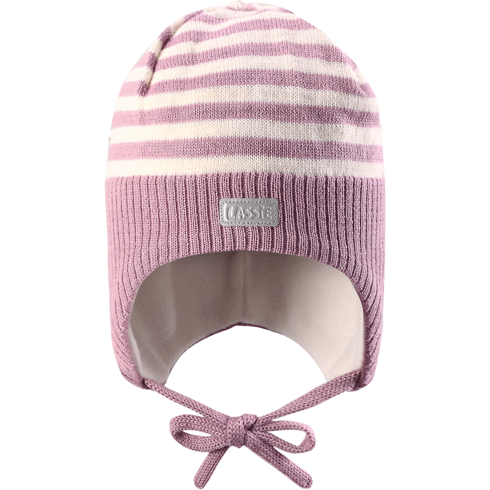 Шапка LASSIEШапка «Бини» для самых маленьких известной финской марки.<br><br>- Мягкая и теплая ткань из смеси шерсти. <br>-Ветронепроницаемые вставки в области ушей. <br>- Мягкая теплая подкладка из флиса.<br>- Милый вязаный узор. <br>- Светоотражающая эмблема Lassie® спереди.<br><br> Рекомендации по уходу: Придать первоначальную форму вo влажном виде. Возможна усадка 5 %.<br><br>Состав: 50% Шерсть, 50% полиакрил.<br><br>Ширина мм: 89<br>Глубина мм: 117<br>Высота мм: 44<br>Вес г: 155<br>Цвет: розовый<br>Возраст от месяцев: 3<br>Возраст до месяцев: 6<br>Пол: Женский<br>Возраст: Детский<br>Размер: 42-44,50-52,46-48,44-46<br>SKU: 4781064