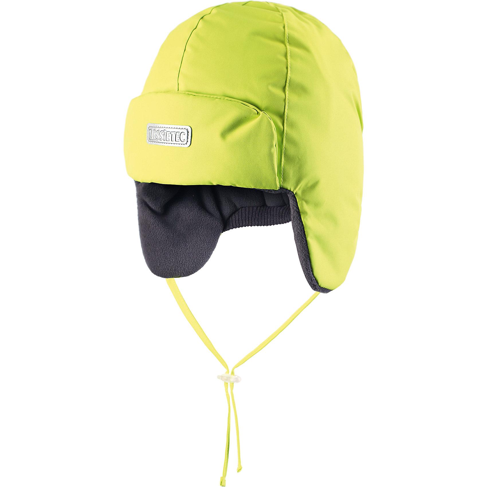Шапка LASSIE by ReimaШапки и шарфы<br>Зимняя шапка для детей и малышей известной финской марки.<br><br>- Водонепроницаемая вставка. Водо- и ветронепроницаемый «дышащий» материал. <br>-  Мягкая теплая подкладка из флиса. <br>- Средняя степень утепления. <br>- Светоотражающая эмблема Lassie® спереди. <br><br>Рекомендации по уходу: Полоскать без специального средства. Сушить при низкой температуре. <br><br>Состав: 100% Полиамид, полиуретановое покрытие.  Утеплитель «Lassie wadding» 120гр.<br><br>Ширина мм: 89<br>Глубина мм: 117<br>Высота мм: 44<br>Вес г: 155<br>Цвет: зеленый<br>Возраст от месяцев: 6<br>Возраст до месяцев: 9<br>Пол: Мужской<br>Возраст: Детский<br>Размер: 46,54,48,50,52<br>SKU: 4781453