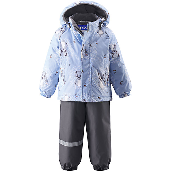 Комплект LASSIEОдежда<br>Зимний комбинезон для малышей известной финской марки.<br><br>- Водоотталкивающий, ветронепроницаемый, «дышащий» и грязеотталкивающий материал.<br>- Задний серединный шов брюк проклеен.<br>- Мягкая теплая подкладка из флиса.<br>- Гладкая подкладка из полиэстра. <br>-Средняя степень утепления. <br>- Безопасный, съемный капюшон. Эластичные манжеты. <br>- Регулируемый подол. Эластичные штанины.<br>- С ъемные эластичные штрипки. Легко надевать благодаря молнии. <br>- Два прорезных кармана. Регулируемые подтяжки. <br><br>Рекомендации по уходу: Стирать по отдельности, вывернув наизнанку. Застегнуть молнии и липучки. Соблюдать температуру в соответствии с руководством по уходу. Стирать моющим средством, не содержащим отбеливающие вещества. Полоскать без специального средства. Сушение в сушильном шкафу разрешено при  низкой температуре.<br><br>Состав: 100% Полиамид, полиуретановое покрытие.  Утеплитель «Lassie wadding» 140гр.(брюки); 180гр.(куртка).<br><br>Ширина мм: 190<br>Глубина мм: 74<br>Высота мм: 229<br>Вес г: 236<br>Цвет: голубой<br>Возраст от месяцев: 12<br>Возраст до месяцев: 15<br>Пол: Унисекс<br>Возраст: Детский<br>Размер: 80,98,92,86<br>SKU: 4781577