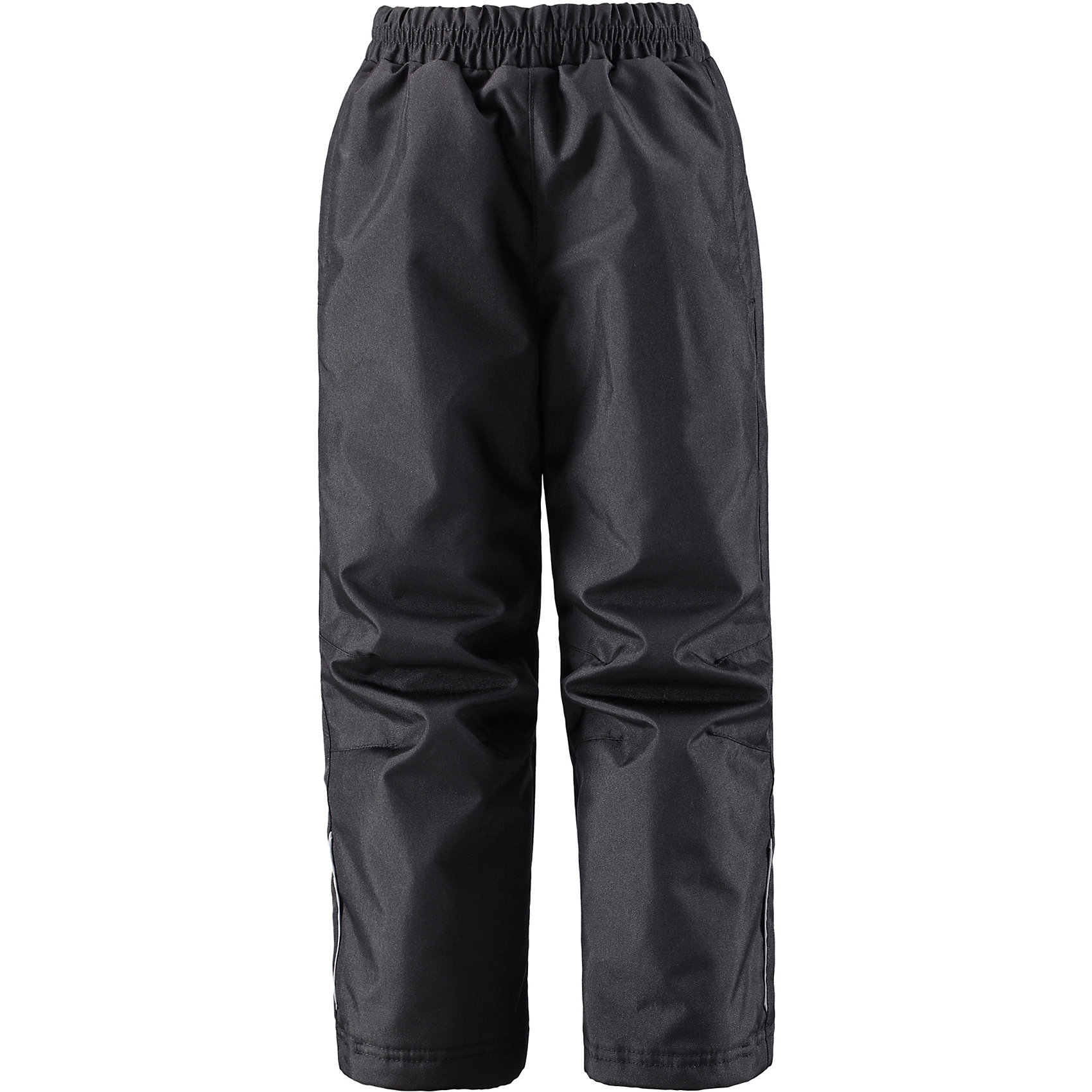 Брюки для мальчика LASSIE by ReimaЗимние брюки для детей известной финской марки. <br><br>- Прочный материал. <br>- Водоотталкивающий, ветронепроницаемый, «дышащий» и грязеотталкивающий материал.<br>-  Задний серединный шов проклеен. свободный крой.<br>- Гладкая подкладка из полиэстра. <br>- Легкая степень утепления. <br>- Эластичный регулируемый обхват талии. <br>- Регулируемые брючины. Карманы в боковых швах.  <br><br>Рекомендации по уходу: Стирать по отдельности, вывернув наизнанку. Застегнуть молнии и липучки. Соблюдать температуру в соответствии с руководством по уходу. Стирать моющим средством, не содержащим отбеливающие вещества. Полоскать без специального средства. Сушение в сушильном шкафу разрешено при  низкой температуре.<br><br>Состав: 100% Полиамид, полиуретановое покрытие.  Утеплитель «Lassie wadding» 80гр.<br><br>Ширина мм: 215<br>Глубина мм: 88<br>Высота мм: 191<br>Вес г: 336<br>Цвет: черный<br>Возраст от месяцев: 18<br>Возраст до месяцев: 24<br>Пол: Мужской<br>Возраст: Детский<br>Размер: 92,134,128,122,116,140,110,104,98<br>SKU: 4781866