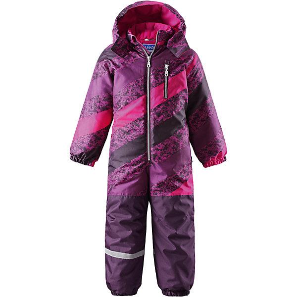 Комбинезон LASSIEОдежда<br>Зимний комбинезон для детей известной финской марки.<br><br>- Прочный материал. Водоотталкивающий, ветронепроницаемый, «дышащий» и грязеотталкивающий материал.<br>-  Задний серединный шов проклеен. Гладкая подкладка из полиэстра. <br>- Средняя степень утепления. <br>- Безопасный, съемный капюшон. Эластичные манжеты. Эластичные штанины.<br>-  Съемные эластичные штрипки. Нагрудный карман на молнии. <br>- Принт по всей поверхности.  <br><br>Рекомендации по уходу: Стирать по отдельности, вывернув наизнанку. Застегнуть молнии и липучки. Соблюдать температуру в соответствии с руководством по уходу. Стирать моющим средством, не содержащим отбеливающие вещества. Полоскать без специального средства. Сушение в сушильном шкафу разрешено при  низкой температуре.<br><br>Состав: 100% Полиамид, полиуретановое покрытие.  Утеплитель «Lassie wadding» 180гр.<br><br>Ширина мм: 356<br>Глубина мм: 10<br>Высота мм: 245<br>Вес г: 519<br>Цвет: лиловый<br>Возраст от месяцев: 12<br>Возраст до месяцев: 15<br>Пол: Женский<br>Возраст: Детский<br>Размер: 80,128,122,116,110,104,98,92,86<br>SKU: 4781958