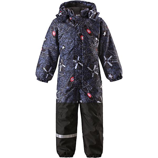 Комбинезон для мальчика LASSIEВерхняя одежда<br>Зимний комбинезон для детей известной финской марки.<br><br>- Прочный материал. Водоотталкивающий, ветронепроницаемый, «дышащий» и грязеотталкивающий материал.<br>-  Задний серединный шов проклеен. Гладкая подкладка из полиэстра. <br>- Средняя степень утепления. <br>- Безопасный, съемный капюшон. Эластичные манжеты. Эластичные штанины.<br>-  Съемные эластичные штрипки. Нагрудный карман на молнии. <br>- Принт по всей поверхности.  <br><br>Рекомендации по уходу: Стирать по отдельности, вывернув наизнанку. Застегнуть молнии и липучки. Соблюдать температуру в соответствии с руководством по уходу. Стирать моющим средством, не содержащим отбеливающие вещества. Полоскать без специального средства. Сушение в сушильном шкафу разрешено при  низкой температуре.<br><br>Состав: 100% Полиамид, полиуретановое покрытие.  Утеплитель «Lassie wadding» 180гр.<br><br>Ширина мм: 356<br>Глубина мм: 10<br>Высота мм: 245<br>Вес г: 519<br>Цвет: темно-синий<br>Возраст от месяцев: 12<br>Возраст до месяцев: 15<br>Пол: Мужской<br>Возраст: Детский<br>Размер: 80,122,116,110,104,98,92,86,128<br>SKU: 4782018