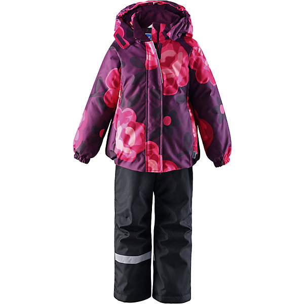 Комплект для девочки LASSIEОдежда<br>Зимний комплект для детей известной финской марки.<br><br>-  Прочный материал. Водоотталкивающий, ветронепроницаемый, «дышащий» и грязеотталкивающий материал.<br>-  Задний серединный шов брюк проклеен.<br>-  Гладкая подкладка из полиэстра.<br>-  Средняя степень утепления. <br>- Безопасный, съемный капюшон.<br>-  Эластичные манжеты. Эластичная талия. <br>- Регулируемый подол. Снегозащитные манжеты на штанинах. <br>- Ширинка на молнии. Карманы в боковых швах.<br>-  Регулируемые и отстегивающиеся эластичные подтяжки.<br>-  Принт по всей поверхности. <br><br> Рекомендации по уходу: Стирать по отдельности, вывернув наизнанку. Застегнуть молнии и липучки. Соблюдать температуру в соответствии с руководством по уходу. Стирать моющим средством, не содержащим отбеливающие вещества. Полоскать без специального средства. Сушение в сушильном шкафу разрешено при  низкой температуре.<br><br>Состав: 100% Полиамид, полиуретановое покрытие.  Утеплитель «Lassie wadding» 100гр.(брюки); 180гр.(куртка).<br>Ширина мм: 190; Глубина мм: 74; Высота мм: 229; Вес г: 236; Цвет: лиловый; Возраст от месяцев: 18; Возраст до месяцев: 24; Пол: Женский; Возраст: Детский; Размер: 92,140,98,104,110,116,122,128,134; SKU: 4782188;