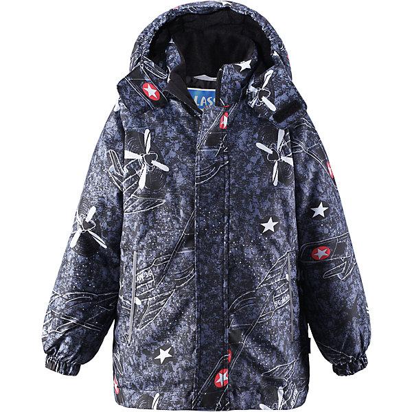 Куртка для мальчика LASSIEОдежда<br>Зимняя куртка для детей известной финской марки.<br><br>- Прочный материал. Водоотталкивающий, ветронепроницаемый, «дышащий» и грязеотталкивающий материал. <br>- Крой для девочек. <br>- Гладкая подкладка из полиэстра.<br>- Средняя степень утепления.<br>-  Безопасный, съемный капюшон. <br>- Эластичные манжеты. Карманы в боковых швах.<br>-  Принт по всей поверхности.  <br><br>Рекомендации по уходу: Стирать по отдельности, вывернув наизнанку. Застегнуть молнии и липучки. Соблюдать температуру в соответствии с руководством по уходу. Стирать моющим средством, не содержащим отбеливающие вещества. Полоскать без специального средства. Сушение в сушильном шкафу разрешено при  низкой температуре.<br><br>Состав: 100% Полиамид, полиуретановое покрытие.  Утеплитель «Lassie wadding» 180гр.<br><br>Ширина мм: 356<br>Глубина мм: 10<br>Высота мм: 245<br>Вес г: 519<br>Цвет: черный<br>Возраст от месяцев: 18<br>Возраст до месяцев: 24<br>Пол: Мужской<br>Возраст: Детский<br>Размер: 92,98,140,134,128,122,116,110,104<br>SKU: 4782298