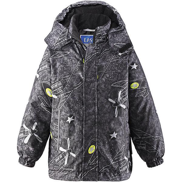 Куртка для мальчика LASSIEОдежда<br>Зимняя куртка для детей известной финской марки.<br><br>- Прочный материал. Водоотталкивающий, ветронепроницаемый, «дышащий» и грязеотталкивающий материал. <br>- Крой для девочек. <br>- Гладкая подкладка из полиэстра.<br>- Средняя степень утепления.<br>-  Безопасный, съемный капюшон. <br>- Эластичные манжеты. Карманы в боковых швах.<br>-  Принт по всей поверхности.  <br><br>Рекомендации по уходу: Стирать по отдельности, вывернув наизнанку. Застегнуть молнии и липучки. Соблюдать температуру в соответствии с руководством по уходу. Стирать моющим средством, не содержащим отбеливающие вещества. Полоскать без специального средства. Сушение в сушильном шкафу разрешено при  низкой температуре.<br><br>Состав: 100% Полиамид, полиуретановое покрытие.  Утеплитель «Lassie wadding» 180гр.<br><br>Ширина мм: 356<br>Глубина мм: 10<br>Высота мм: 245<br>Вес г: 519<br>Цвет: серый<br>Возраст от месяцев: 48<br>Возраст до месяцев: 60<br>Пол: Мужской<br>Возраст: Детский<br>Размер: 110,92,140,134,128,122,116,104,98<br>SKU: 4782308