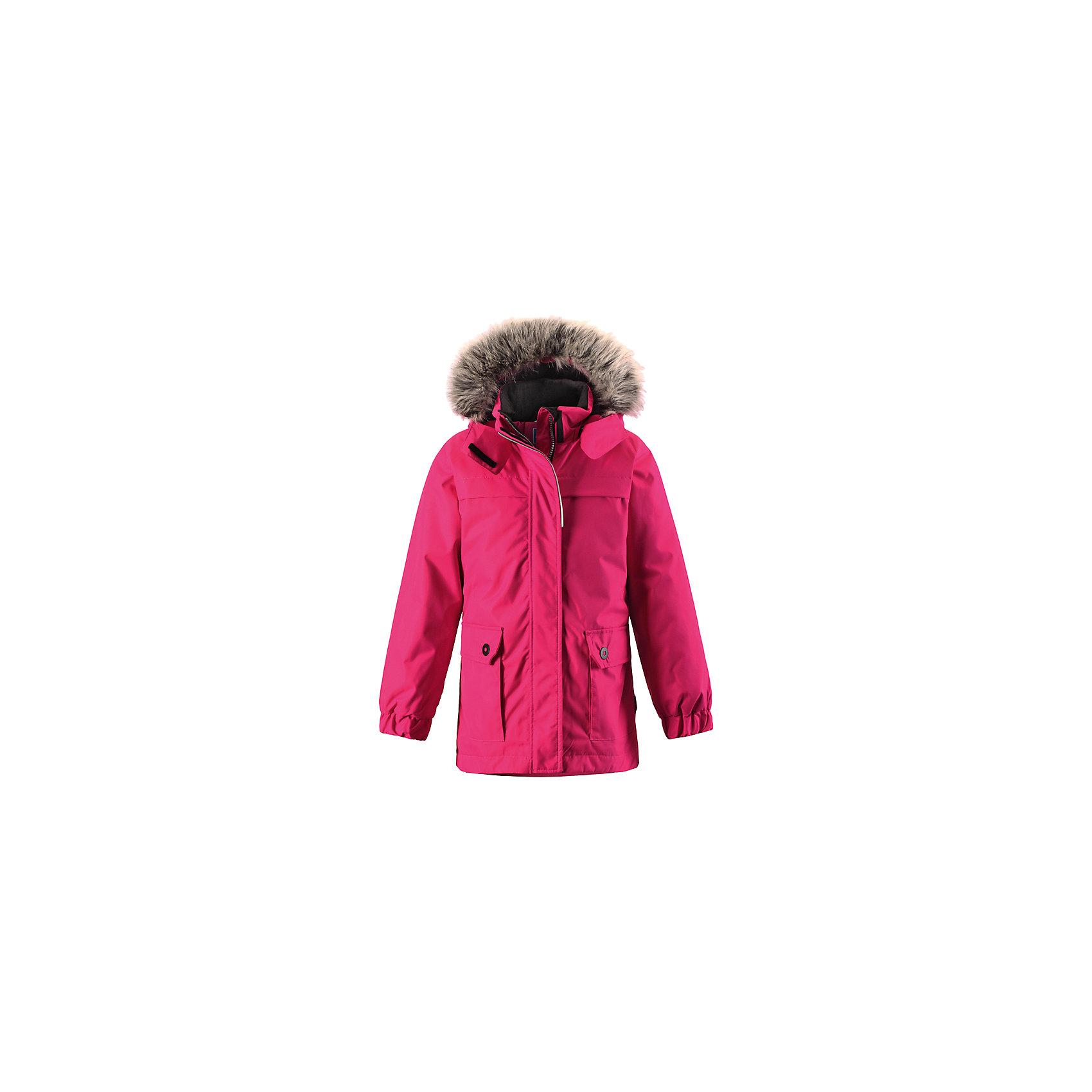 Куртка для девочки LASSIE by ReimaЗимняя куртка для детей известной финской марки.<br><br>- Водоотталкивающий, ветронепроницаемый, «дышащий» и грязеотталкивающий материал.<br>- Крой для девочек.<br>- Гладкая подкладка из полиэстра.<br>- Средняя степень утепления<br>-  Безопасный съемный капюшон с отсоединяемой меховой каймой из искусственного меха. <br>- Эластичные манжеты. Регулируемый обхват талии.<br>-  Карманы с клапанами. <br><br> Рекомендации по уходу: Стирать по отдельности, вывернув наизнанку. Перед стиркой отстегните искусственный мех. Застегнуть молнии и липучки. Соблюдать температуру в соответствии с руководством по уходу. Стирать моющим средством, не содержащим отбеливающие вещества. Полоскать без специального средства. Сушение в сушильном шкафу разрешено при  низкой температуре.<br><br>Состав: 100% Полиамид, полиуретановое покрытие.  Утеплитель «Lassie wadding» 180гр.<br><br>Ширина мм: 356<br>Глубина мм: 10<br>Высота мм: 245<br>Вес г: 519<br>Цвет: малиновый<br>Возраст от месяцев: 18<br>Возраст до месяцев: 24<br>Пол: Женский<br>Возраст: Детский<br>Размер: 92,140,134,128,122,116,110,104,98<br>SKU: 4782318