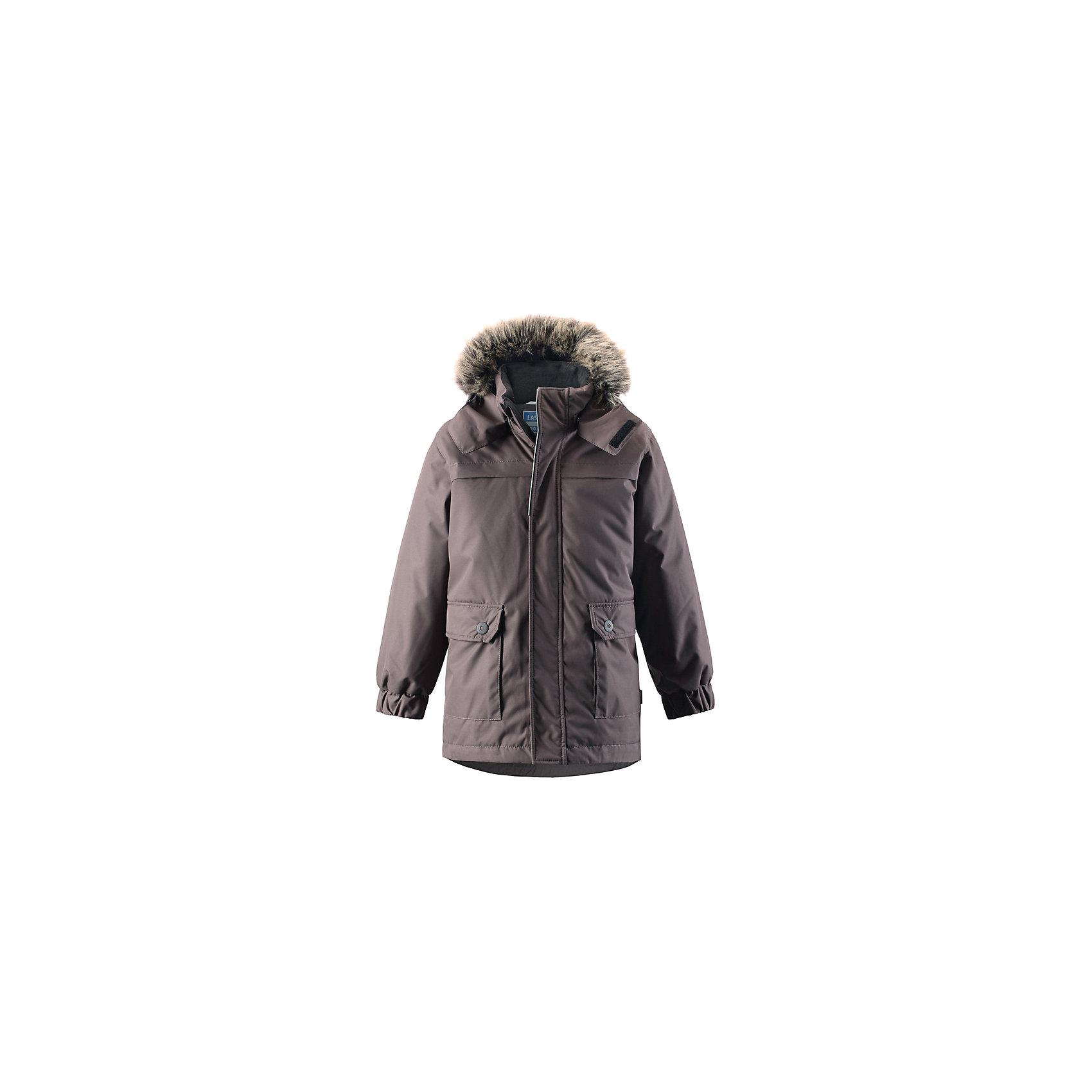 Куртка LASSIEОдежда<br>Зимняя куртка для детей известной финской марки.<br><br>- Водоотталкивающий, ветронепроницаемый, «дышащий» и грязеотталкивающий материал.<br>- Крой для девочек.<br>- Гладкая подкладка из полиэстра.<br>- Средняя степень утепления<br>-  Безопасный съемный капюшон с отсоединяемой меховой каймой из искусственного меха. <br>- Эластичные манжеты. Регулируемый обхват талии.<br>-  Карманы с клапанами. <br><br> Рекомендации по уходу: Стирать по отдельности, вывернув наизнанку. Перед стиркой отстегните искусственный мех. Застегнуть молнии и липучки. Соблюдать температуру в соответствии с руководством по уходу. Стирать моющим средством, не содержащим отбеливающие вещества. Полоскать без специального средства. Сушение в сушильном шкафу разрешено при  низкой температуре.<br><br>Состав: 100% Полиамид, полиуретановое покрытие.  Утеплитель «Lassie wadding» 180гр.<br><br>Ширина мм: 356<br>Глубина мм: 10<br>Высота мм: 245<br>Вес г: 519<br>Цвет: темно-коричневый<br>Возраст от месяцев: 48<br>Возраст до месяцев: 60<br>Пол: Унисекс<br>Возраст: Детский<br>Размер: 110,140,92,98,104,116,122,128,134<br>SKU: 4782358