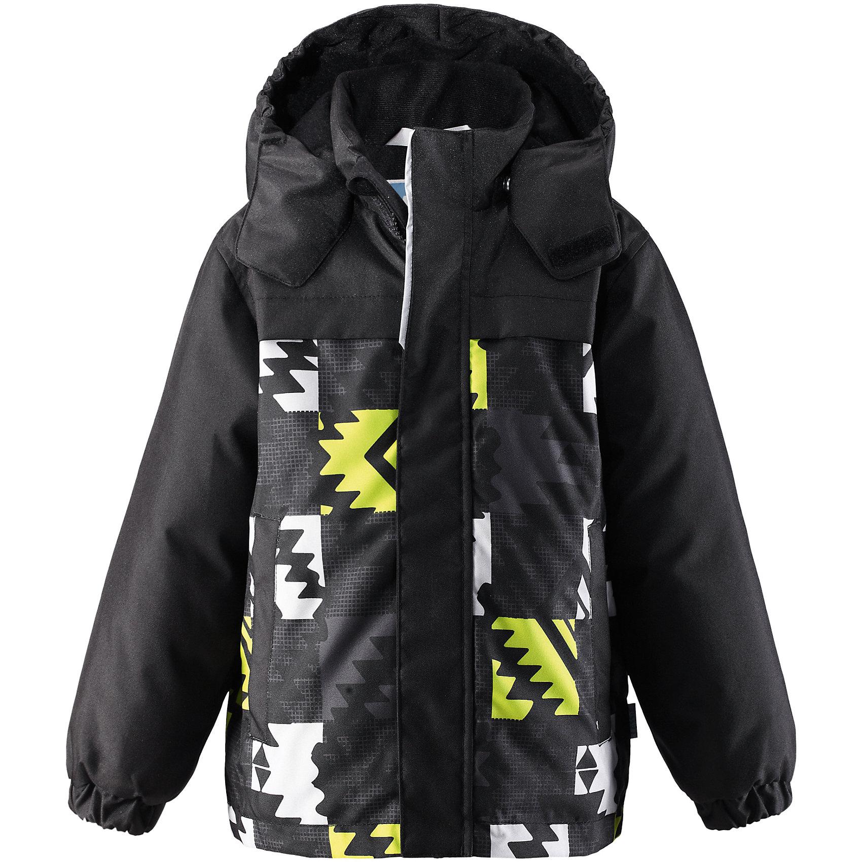 Куртка для мальчика LASSIE by ReimaЗимняя куртка для детей звестной финской марки.<br><br>- Прочный материал. Водоотталкивающий, ветронепроницаемый, «дышащий» и грязеотталкивающий материал.<br>- Гладкая подкладка из полиэстра. <br>- Средняя степень утепления<br>- Безопасный, съемный капюшон. <br>- Эластичные манжеты. <br>- Регулируемый подол. <br>- Два прорезных кармана.<br>-  Принт по всей поверхности.  <br><br>Рекомендации по уходу: Стирать по отдельности, вывернув наизнанку. Застегнуть молнии и липучки. Соблюдать температуру в соответствии с руководством по уходу. Стирать моющим средством, не содержащим отбеливающие вещества. Полоскать без специального средства. Сушение в сушильном шкафу разрешено при  низкой температуре.<br><br>Состав: 100% Полиамид, полиуретановое покрытие, 100% Полиамид, полиуретановое покрытие.  Утеплитель «Lassie wadding» 180гр.<br><br>Ширина мм: 356<br>Глубина мм: 10<br>Высота мм: 245<br>Вес г: 519<br>Цвет: черный<br>Возраст от месяцев: 18<br>Возраст до месяцев: 24<br>Пол: Мужской<br>Возраст: Детский<br>Размер: 92,140,134,128,122,116,110,104,98<br>SKU: 4782408