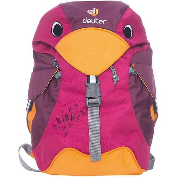 Deuter Рюкзак детский Kikki, фиолетовыйДорожные сумки и чемоданы<br>Рюкзак Kikki, фиолетовый, Deuter (Дойтер)<br><br>Характеристики:<br><br>• ортопедическая спинка<br>• есть нагрудный ремень<br>• 2 внешних кармана с застежками<br>• клапан в виде головы птицы<br>• материал: нейлон<br>• размер: 20х35х16 см<br>• объем: 6 л<br>• вес: 360 грамм<br>• цвет: фиолетовый<br><br>Стильный рюкзак Kikki изготовлен из качественного нейлона, обладающего высокой износостойкостью. Модель оснащена регулируемыми лямками и надежным нагрудным ремнем. Лямки очень широкие и мягкие, что обеспечивает удобство при ношении. Одно вместительное отделение дополнено двумя внешними карманами на застежках. Рюкзак имеет светоотражающие элементы по бокам и спереди. Это обеспечит безопасность ребенка в темное время суток. Рюкзак отлично подойдет для прогулок и занятий!<br><br>Рюкзак Kikki, фиолетовый, Deuter (Дойтер) можно купить в нашем интернет-магазине.<br><br>Ширина мм: 160<br>Глубина мм: 200<br>Высота мм: 350<br>Вес г: 360<br>Возраст от месяцев: 24<br>Возраст до месяцев: 84<br>Пол: Женский<br>Возраст: Детский<br>SKU: 4782518