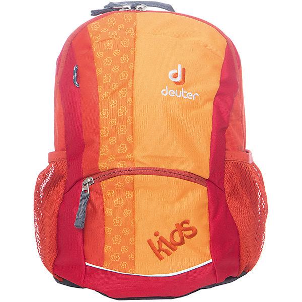 Deuter Рюкзак детский Kids, оранжевыйДорожные сумки и чемоданы<br>Рюкзак Kids, оранжевый, Deuter (Дойтер)<br><br>Характеристики:<br><br>• нагрудный ремень<br>• мягкая спинка<br>• мягкие широкие лямки регулируются<br>• боковые сетчатые карманы<br>• дополнительное отделение и карман на молнии<br>• потайной карман<br>• светоотражающие элементы<br>• размер: 20х36х18 см<br>• объем: 12 л<br>• вес: 320 грамм<br>• цвет: оранжевый<br>• материал: Super-Polytex<br><br>Рюкзак Kids от Deuter - настоящая находка для детей. В рюкзаке поместится абсолютно всё, ведь он оснащен дополнительным отделением, боковыми сетчатыми карманами и даже потайным карманом. Все отделения застегиваются на молнию при помощи удобных застежек. Мягкая спинка, S-образные лямки и нагрудный ремень обеспечат правильное распределение нагрузки на спину и удобство при ношении. Светоотражающие элементы помогут предотвратить несчастные случаи в темное время суток. Рюкзак Kids станет незаменимым помощником любому ребенку!<br><br>Рюкзак Kids, оранжевый, Deuter (Дойтер) вы можете купить в нашем интернет-магазине.<br>Ширина мм: 180; Глубина мм: 360; Высота мм: 200; Вес г: 320; Возраст от месяцев: 36; Возраст до месяцев: 84; Пол: Унисекс; Возраст: Детский; SKU: 4782519;