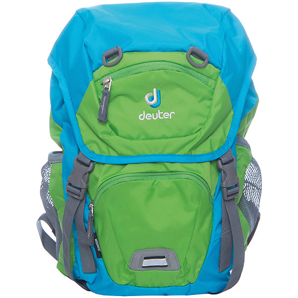 Deuter Рюкзак детский Kids, весенне-бирюзовыйДорожные сумки и чемоданы<br>Рюкзак Junior, весенне-бирюзовый, Deuter (Дойтер)<br><br>Характеристики:<br><br>• ортопедическая спинка Airstripes System<br>• нагрудный ремень<br>• широкие регулируемые лямки S-образной формы<br>• основное отделение затягивается с помощью шнурка<br>• есть клапан с карабинами<br>• внешний карман на молнии<br>• именная бирка<br>• внешний карман с внутренним карабином для ключей<br>• боковые сетчатые карманы на резинках<br>• дышащий материал спинки<br>• удобная ручка<br>• светоотражающие элементы <br>• материал: полиэстер<br>• размер: 39х24х14<br>• объем: 18 л<br>• вес: 420 грамм<br>• цвет: весенне-бирюзовый<br><br>Рюкзак Junior от Deuter изготовлен из прочного полиэстера. Спинка рюкзака впитывает влагу и пропускает воздух, что позволяет коже дышать. Модель имеет ортопедическую спинку, которая поможет правильно распределить нагрузку на спину. Широкие плечевые лямки и нагрудный ремень позаботятся о нагрузке на плечевой пояс. Рюкзак оснащен одним отделением (утягивается шнурком), сетчатыми боковыми карманами на резинке, внешним карманом на молнии и потайным карманом, располагающимся на клапане рюкзака. Внешний карман имеет внутренний карабин, на который ребенок сможет прикрепить ключи. Именная бирка на внутренней стороне предназначена для написания инициалов владельца. Светоотражающие элементы помогут предотвратить несчастные случаи в темное время суток. Такой рюкзак - настоящая находка для детей!<br><br>Рюкзак Junior, весенне-бирюзовый, Deuter (Дойтер) вы можете купить в нашем интернет-магазине.<br>Ширина мм: 190; Глубина мм: 430; Высота мм: 240; Вес г: 420; Возраст от месяцев: 60; Возраст до месяцев: 144; Пол: Мужской; Возраст: Детский; SKU: 4782520;