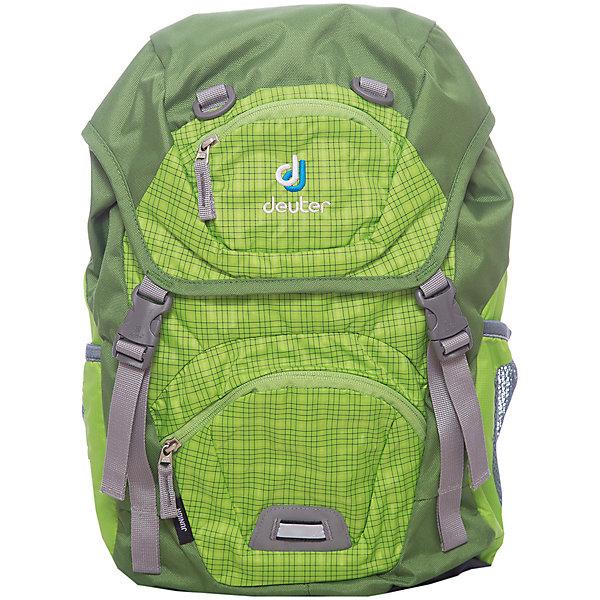 Deuter Рюкзак детский Junior, зеленыйДорожные сумки и чемоданы<br>Рюкзак Junior, зеленый, Deuter (Дойтер)<br><br>Характеристики:<br><br>• ортопедическая спинка Airstripes System<br>• нагрудный ремень<br>• широкие регулируемые лямки S-образной формы<br>• основное отделение затягивается с помощью шнурка<br>• есть клапан с карабинами<br>• внешний карман на молнии<br>• именная бирка<br>• внешний карман с внутренним карабином для ключей<br>• боковые сетчатые карманы на резинках<br>• дышащий материал спинки<br>• удобная ручка<br>• светоотражающие элементы<br>• материал: полиэстер<br>• размер: 39х24х14<br>• объем: 18 л<br>• вес: 420 грамм<br>• цвет: зеленый<br><br>Рюкзак Junior от Deuter изготовлен из прочного полиэстера. Спинка рюкзака впитывает влагу и пропускает воздух, что позволяет коже дышать. Модель имеет ортопедическую спинку, которая поможет правильно распределить нагрузку на спину. Широкие плечевые лямки и нагрудный ремень позаботятся о нагрузке на плечевой пояс. Рюкзак оснащен одним отделением (утягивается шнурком), сетчатыми боковыми карманами на резинке, внешним карманом на молнии и потайным карманом, располагающимся на клапане рюкзака. Внешний карман имеет внутренний карабин, на который ребенок сможет прикрепить ключи. Именная бирка на внутренней стороне предназначена для написания инициалов владельца. Светоотражающие элементы помогут предотвратить несчастные случаи в темное время суток. Такой рюкзак - настоящая находка для детей!<br><br>Рюкзак Junior, зеленый, Deuter (Дойтер) вы можете купить в нашем интернет-магазине.<br><br>Ширина мм: 190<br>Глубина мм: 430<br>Высота мм: 240<br>Вес г: 420<br>Возраст от месяцев: 60<br>Возраст до месяцев: 144<br>Пол: Унисекс<br>Возраст: Детский<br>SKU: 4782521
