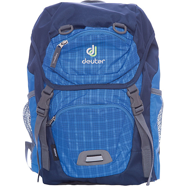 Deuter Рюкзак детский Junior, голубая клеткаДорожные сумки и чемоданы<br>Рюкзак Junior, голубая клетка, Deuter (Дойтер)<br><br>Характеристики:<br><br>• ортопедическая спинка Airstripes System<br>• нагрудный ремень<br>• широкие регулируемые лямки S-образной формы<br>• основное отделение затягивается с помощью шнурка<br>• есть клапан с карабинами<br>• внешний карман на молнии<br>• именная бирка<br>• внешний карман с внутренним карабином для ключей<br>• боковые сетчатые карманы на резинках<br>• дышащий материал спинки<br>• удобная ручка<br>• светоотражающие элементы<br>• материал: полиэстер<br>• размер: 39х24х14<br>• объем: 18 л<br>• вес: 420 грамм<br>• цвет: голубая клетка<br><br>Рюкзак Junior от Deuter изготовлен из прочного полиэстера. Спинка рюкзака впитывает влагу и пропускает воздух, что позволяет коже дышать. Модель имеет ортопедическую спинку, которая поможет правильно распределить нагрузку на спину. Широкие плечевые лямки и нагрудный ремень позаботятся о нагрузке на плечевой пояс. Рюкзак оснащен одним отделением (утягивается шнурком), сетчатыми боковыми карманами на резинке, внешним карманом на молнии и потайным карманом, располагающимся на клапане рюкзака. Внешний карман имеет внутренний карабин, на который ребенок сможет прикрепить ключи. Именная бирка на внутренней стороне предназначена для написания инициалов владельца. Светоотражающие элементы помогут предотвратить несчастные случаи в темное время суток. Такой рюкзак - настоящая находка для детей!<br><br>Рюкзак Junior, голубая клетка, Deuter (Дойтер) вы можете купить в нашем интернет-магазине.<br><br>Ширина мм: 190<br>Глубина мм: 430<br>Высота мм: 240<br>Вес г: 420<br>Возраст от месяцев: 60<br>Возраст до месяцев: 144<br>Пол: Мужской<br>Возраст: Детский<br>SKU: 4782522