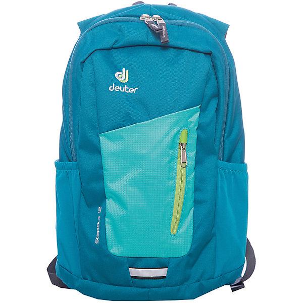 Deuter Рюкзак Stepout  12, сине-зеленыйДорожные сумки и чемоданы<br>Рюкзак Stepout  12, сине-зеленый, Deuter (Дойтер)<br><br>Характеристики:<br><br>• система вентиляции спины Airstripes<br>• лямки имеют анатомическую форму<br>• отделение для документов<br>• внешний карман на молнии с карабином для ключей<br>• боковые карманы на резинке<br>• петля для фонарика<br>• материал: Super-Polytex<br>• объем: 12 л<br>• размер: 21х24х14 см<br>• вес: 450 грамм<br>• цвет: сине-зеленый<br><br>Городской рюкзак Stepout очень функционален. Он оснащен одним большим отделением на молнии, внешним отделением на молнии и двумя боковыми карманами на резинке. Основное отделение имеет карман для документов, а внешнее - карабин для ключей. Плечевые ремни имеют анатомическую форму, обеспечивающую правильное распределение нагрузки на спину. Рюкзак также оснащен системой Airstripes. Она впитывает лишнюю влагу и пропускает воздух. Этот рюкзак - прекрасный выбор для ценителей качества и удобства!<br><br>Рюкзак Stepout  12, сине-зеленый, Deuter (Дойтер) можно купить в нашем интернет-магазине.<br>Ширина мм: 140; Глубина мм: 240; Высота мм: 210; Вес г: 450; Возраст от месяцев: 60; Возраст до месяцев: 144; Пол: Мужской; Возраст: Детский; SKU: 4782531;