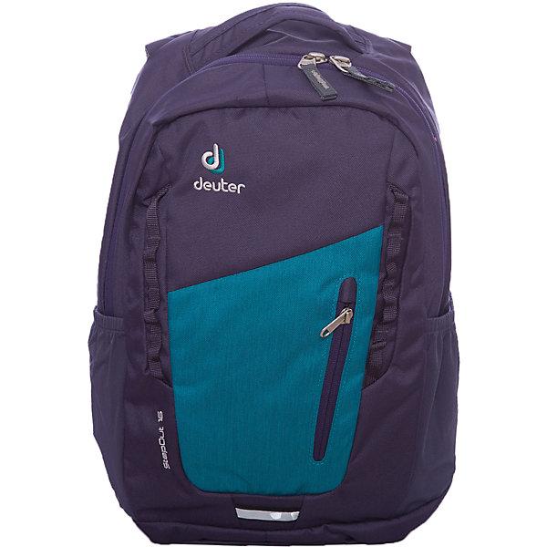 Deuter Рюкзак Stepout  16, фиолетово-синийЧемоданы и дорожные сумки<br>Рюкзак Stepout  16, фиолетово-синий, Deuter (Дойтер)<br><br>Характеристики:<br><br>• система вентиляции спины Airstripes<br>• лямки имеют анатомическую форму<br>• отделение для документов<br>• внешний карман на молнии с карабином для ключей<br>• боковые карманы на резинке<br>• петля для фонарика<br>• удобная ручка для переноски<br>• петля для навески<br>• материал: Super-Polytex<br>• объем: 16 л<br>• размер: 45х26х16 см<br>• вес: 550 грамм<br>• цвет: фиолетово-синий<br><br>Городской рюкзак Stepout очень функционален. Он оснащен одним большим отделением на молнии, внешним отделением на молнии и двумя боковыми карманами на резинке. Основное отделение имеет карман для документов, а внешнее - карабин для ключей. Плечевые ремни имеют анатомическую форму, обеспечивающую правильное распределение нагрузки на спину. Рюкзак также оснащен системой Airstripes, которая позволит коже дышать. Она впитывает лишнюю влагу и пропускает воздух. Рюкзак имеет удобную ручку для переноски в руке и петлю для навески. Этот рюкзак - прекрасный выбор для ценителей качества и удобства!<br><br>Рюкзак Stepout  16, фиолетово-синий, Deuter (Дойтер) можно купить в нашем интернет-магазине.<br>Ширина мм: 160; Глубина мм: 260; Высота мм: 450; Вес г: 550; Возраст от месяцев: 72; Возраст до месяцев: 144; Пол: Женский; Возраст: Детский; SKU: 4782533;