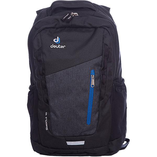 Deuter Рюкзак Stepout  16, серыйДорожные сумки и чемоданы<br>Рюкзак Stepout  16, серый, Deuter (Дойтер)<br><br>Характеристики:<br><br>• система вентиляции спины Airstripes<br>• лямки имеют анатомическую форму<br>• отделение для документов<br>• внешний карман на молнии с карабином для ключей<br>• боковые карманы на резинке<br>• петля для фонарика<br>• удобная ручка для переноски<br>• петля для навески<br>• материал: Super-Polytex<br>• объем: 16 л<br>• размер: 45х26х16 см<br>• вес: 550 грамм<br>• цвет: серый<br><br>Городской рюкзак Stepout очень функционален. Он оснащен одним большим отделением на молнии, внешним отделением на молнии и двумя боковыми карманами на резинке. Основное отделение имеет карман для документов, а внешнее - карабин для ключей. Плечевые ремни имеют анатомическую форму, обеспечивающую правильное распределение нагрузки на спину. Рюкзак также оснащен системой Airstripes, которая позволит коже дышать. Она впитывает лишнюю влагу и пропускает воздух. Рюкзак имеет удобную ручку для переноски в руке и петлю для навески. Этот рюкзак - прекрасный выбор для ценителей качества и удобства!<br><br>Рюкзак Stepout  16, серый, Deuter (Дойтер) можно купить в нашем интернет-магазине.<br><br>Ширина мм: 160<br>Глубина мм: 260<br>Высота мм: 450<br>Вес г: 550<br>Возраст от месяцев: 72<br>Возраст до месяцев: 144<br>Пол: Мужской<br>Возраст: Детский<br>SKU: 4782534