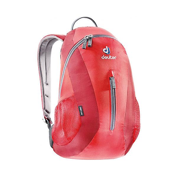 Deuter Рюкзак City light, красныйДорожные сумки и чемоданы<br>Рюкзак City light, красный, Deuter (Дойтер)<br><br>Характеристики:<br><br>• система Airstripes <br>• мягкие анатомические лямки<br>• удобная U-образная молния<br>• карман для документов<br>• внешний карман на молнии<br>• боковые сетчатые карманы<br>• светоотражающие элементы<br>• материал: Super-Polytex<br>• объем: 16 литров<br>• вес: 440 грамм<br>• размер: 45х24х17 см<br>• цвет: красный<br><br>City Light от известного бренда Deuter - компактный и функциональный рюкзак. Он устойчив к влаге и истиранию, а также легко чистится. Основное отделение застегивается на U-образную молнию, что обеспечивает быстрый доступ к нему. Кроме того, основное отделение оснащено карманом для документов. Внешнее отделение застегивается на молнию. Мягкие анатомические лямки правильно распределят нагрузку на спину, а система Airstripes позволит спине дышать. Ко всему прочему, рюкзак оснащен боковыми сетчатыми карманами и светоотражающими элементами. Качество и удобство - всё это сочетается в рюкзаке City Light.<br><br>Рюкзак City light, красный, Deuter (Дойтер) можно купить в нашем интернет-магазине.<br>Ширина мм: 170; Глубина мм: 240; Высота мм: 450; Вес г: 440; Возраст от месяцев: 72; Возраст до месяцев: 144; Пол: Унисекс; Возраст: Детский; SKU: 4782535;