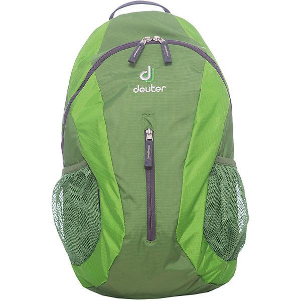 Deuter Рюкзак City light, зеленыйДорожные сумки и чемоданы<br>Рюкзак City light, зеленый, Deuter (Дойтер)<br><br>Характеристики:<br><br>• система Airstripes <br>• мягкие анатомические лямки<br>• удобная U-образная молния<br>• карман для документов<br>• внешний карман на молнии<br>• боковые сетчатые карманы<br>• светоотражающие элементы<br>• материал: Super-Polytex<br>• объем: 16 литров<br>• вес: 440 грамм<br>• размер: 45х24х17 см<br>• цвет: зеленый<br><br>City Light от известного бренда Deuter - компактный и функциональный рюкзак. Он устойчив к влаге и истиранию, а также легко чистится. Основное отделение застегивается на U-образную молнию, что обеспечивает быстрый доступ к нему. Кроме того, основное отделение оснащено карманом для документов. Внешнее отделение застегивается на молнию. Мягкие анатомические лямки правильно распределят нагрузку на спину, а система Airstripes позволит спине дышать. Ко всему прочему, рюкзак оснащен боковыми сетчатыми карманами и светоотражающими элементами. Качество и удобство - всё это сочетается в рюкзаке City Light.<br><br>Рюкзак City light, зеленый, Deuter (Дойтер) можно купить в нашем интернет-магазине.<br><br>Ширина мм: 170<br>Глубина мм: 240<br>Высота мм: 450<br>Вес г: 440<br>Возраст от месяцев: 72<br>Возраст до месяцев: 144<br>Пол: Унисекс<br>Возраст: Детский<br>SKU: 4782536