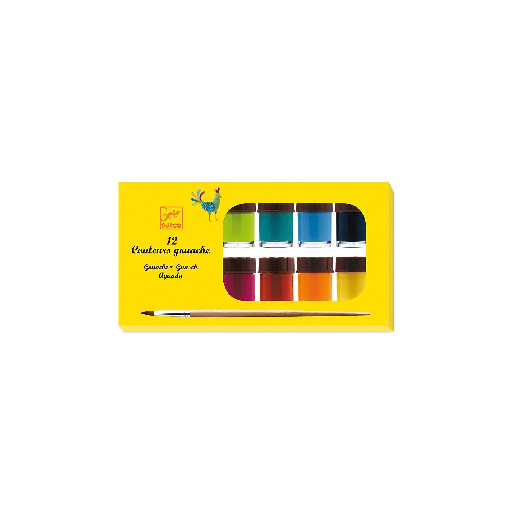 Набор гуашь, 12 цвГуашь классическая - удобный набор с красками от французской фирмы Djeco. Гуашь 12 цветов - замечательный набор, который позволит проявить творческие способности Вашего малыша. Уже с самых ранних лет дети могут учиться рисовать и развивать воображение благодаря ярким краскам от Djeco. Краски выполнены из качественных ингредиентов на водной основе, безопасны для здоровья малышей. Краски удобно использовать, они упакованы в прозрачные стеклянные баночки с закручивающимися крышечками. Краски легко смешиваются, их удобно наносить на бумагу. Рисунки получаются яркие и насыщенные, линии четкие, без комочков. <br>Гуашь сделана из экологически безопасных компонентов, не причинит вреда ребенку, даже если он решит попробовать ее на вкус. Рисовать можно кисточкой из набора или прямо руками. Ребенок, рисуя пальчиками, развивает мелкую моторику, формируются пространственные навыки. С самого раннего возраста рисование развивает познавательные способности, тренируются зрительные и моторные навыки, память, воображение. Через рисунок ребенок учится выражать свои желания и настроения. Родители вместе с малышом могут создавать яркие картины. Можно сделать веселые разноцветные отпечатки ладошек ребенка, мамы и папы, и поместить их в домашний альбом. В наборе: 12 баночек по 15 мл., кисточка для рисования.<br><br>Набор гуашь, 12 цв можно купить в нашем магазине.<br><br>Ширина мм: 240<br>Глубина мм: 130<br>Высота мм: 40<br>Вес г: 520<br>Возраст от месяцев: 24<br>Возраст до месяцев: 60<br>Пол: Унисекс<br>Возраст: Детский<br>SKU: 4783854