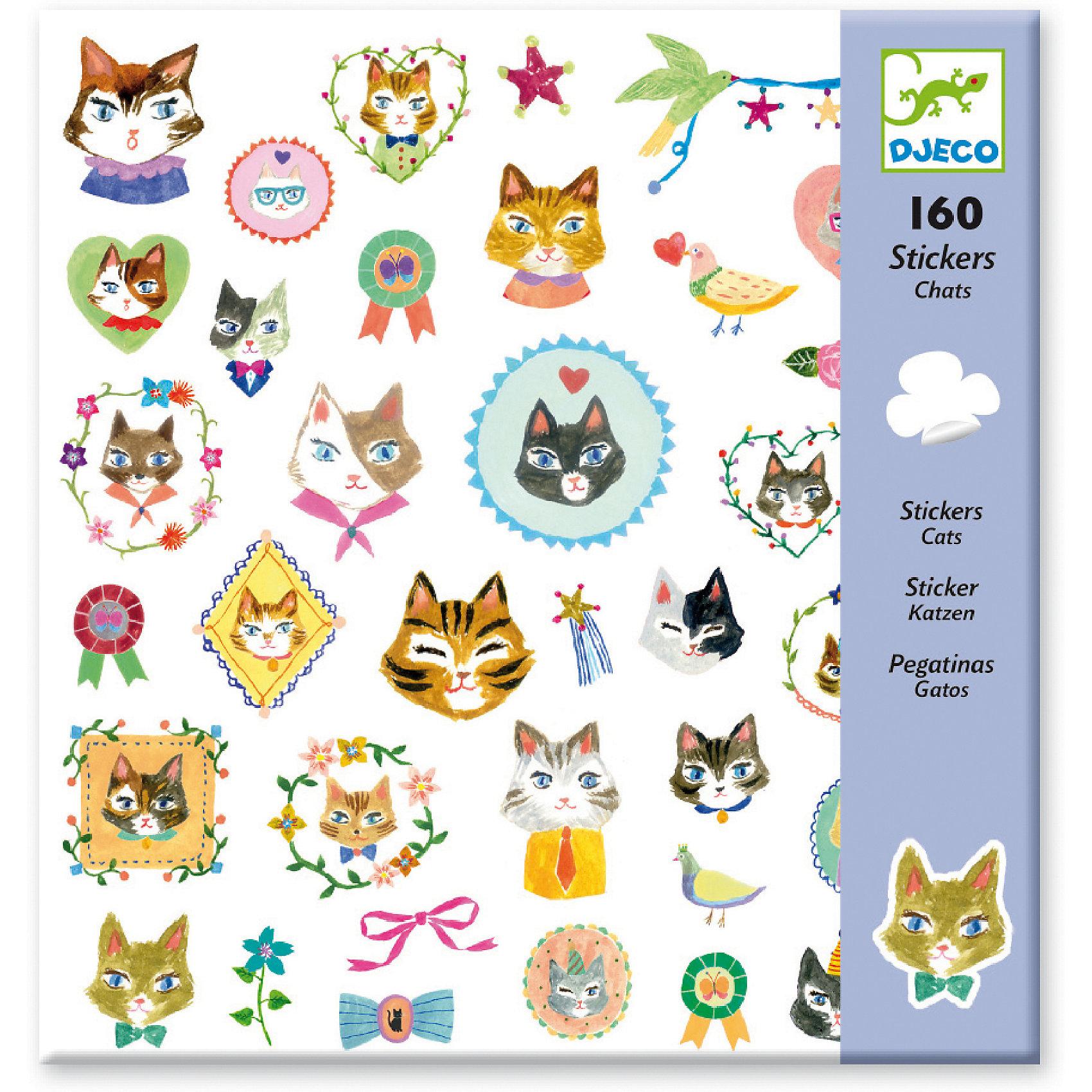 160 наклеек КошкиНабор наклеек Кошки от французского бренда Djeco с забавными котятами и небольшими деталями украсит любые поверхности детской комнаты. Наклеивайте их вместе с малышом на столы, стены и другие предметы, создавайте целые истории и придумывайте увлекательные приключения. Можно создать открытку, приглашение на день рождения или аппликацию! Главное - проявить фантазию. Наклейки крепко приклеиваются к любым поверхностям: обоям, стеклу, кафелю и бумаге и не портят мебель. Все изображения созданы современными французскими художниками. Набор в яркой красочной упаковке прекрасно подойдет для подарка. В наборе: 4 листа – 160 наклеек. <br><br>160 наклеек Кошки можно купить в нашем магазине.<br><br>Ширина мм: 220<br>Глубина мм: 230<br>Высота мм: 10<br>Вес г: 80<br>Возраст от месяцев: 36<br>Возраст до месяцев: 108<br>Пол: Женский<br>Возраст: Детский<br>SKU: 4783857