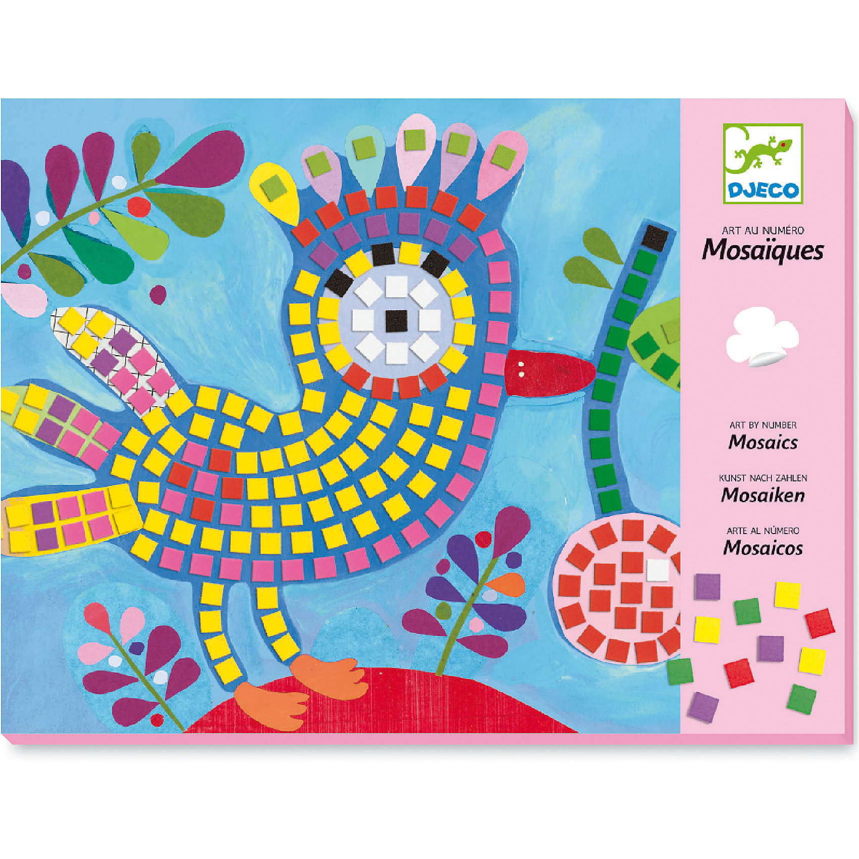 Мозаика Птица и божья коровкаКлассическая мозаика<br>Набор для создания красочной мозаики станет увлекательной игрой как для девочек, так и для мальчиков. С помощью набора Djeco можно создавать картинки посредством инструкции или же придумывать собственные варианты, проявляя творческие способности. Набор для творчества Djeco развивает мелкую моторику, образное и логическое мышление, учит малыша внимательности и усидчивости. В наборе: 2 картинки, небольшие плитки для мозаики 6,5 х 6,5 мм.<br><br>Мозаика Птица и божья коровка можно купить в нашем магазине.<br><br>Ширина мм: 290<br>Глубина мм: 220<br>Высота мм: 10<br>Вес г: 230<br>Возраст от месяцев: 48<br>Возраст до месяцев: 96<br>Пол: Унисекс<br>Возраст: Детский<br>SKU: 4783863