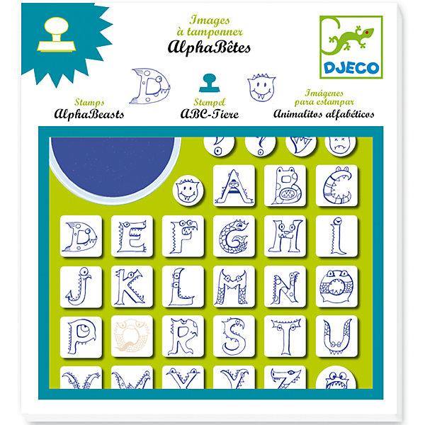Набор штампов АлфавитДетские печати и штампы<br>Удивительный набор штампов в форме букв латинского алфавита, нарисованных в виде различных животных. В игровой форме Ваш ребенок начнет изучение латинского алфавита, научится составлять буквы в слова.В комплекте: 32 штампа в виде букв, моющаяся штемпельная подушечка.<br><br>Набор штампов Алфавит можно купить в нашем магазине.<br><br>Ширина мм: 230<br>Глубина мм: 210<br>Высота мм: 20<br>Вес г: 300<br>Возраст от месяцев: 36<br>Возраст до месяцев: 72<br>Пол: Унисекс<br>Возраст: Детский<br>SKU: 4783864