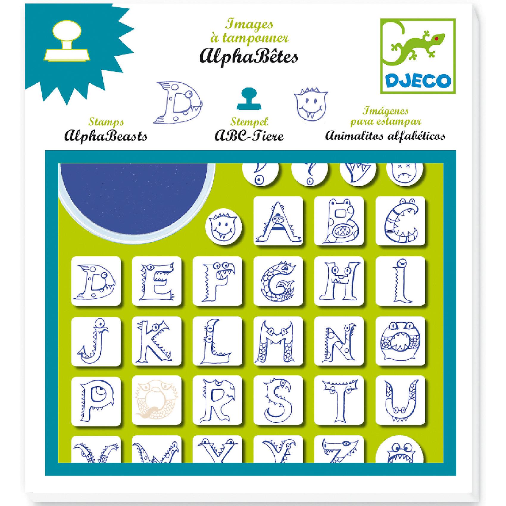 Набор штампов АлфавитОбучающие карточки<br>Удивительный набор штампов в форме букв латинского алфавита, нарисованных в виде различных животных. В игровой форме Ваш ребенок начнет изучение латинского алфавита, научится составлять буквы в слова.В комплекте: 32 штампа в виде букв, моющаяся штемпельная подушечка.<br><br>Набор штампов Алфавит можно купить в нашем магазине.<br><br>Ширина мм: 230<br>Глубина мм: 210<br>Высота мм: 20<br>Вес г: 300<br>Возраст от месяцев: 36<br>Возраст до месяцев: 72<br>Пол: Унисекс<br>Возраст: Детский<br>SKU: 4783864