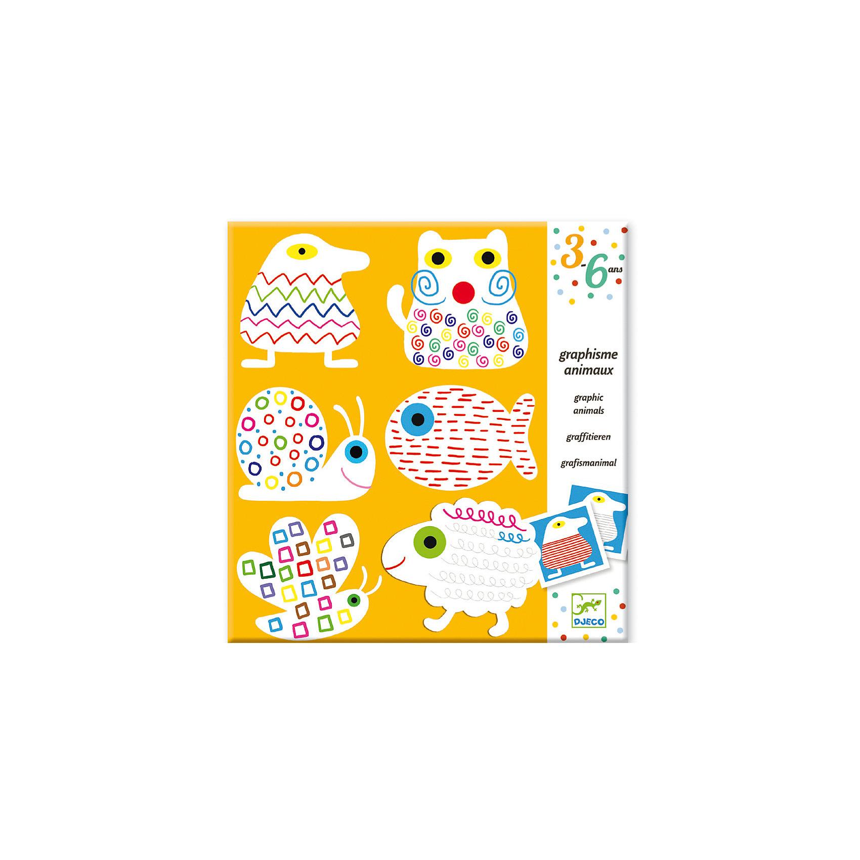 Набор для рисования УзорыНаборы для раскрашивания<br>Набор для творчества Узоры от компании Djeco позволит каждому творческому ребенку создать несколько картинок с необычными изображениями животных.Набор состоит из 6 картинок с животными с нанесенными на них узорами. Обводя узоры разными фломастерами у ребенка получится красивый и необычный рисунок. Получившимися картинками можно украсить детскую комнату или подарить их родным и друзьям. Внимание! Фломастеры в комплект не входят. Все изображения в стиле модерн созданы современными художниками.<br><br>Набор для рисования Узоры можно купить в нашем магазине.<br><br>Ширина мм: 10<br>Глубина мм: 220<br>Высота мм: 230<br>Вес г: 180<br>Возраст от месяцев: 36<br>Возраст до месяцев: 72<br>Пол: Унисекс<br>Возраст: Детский<br>SKU: 4783866