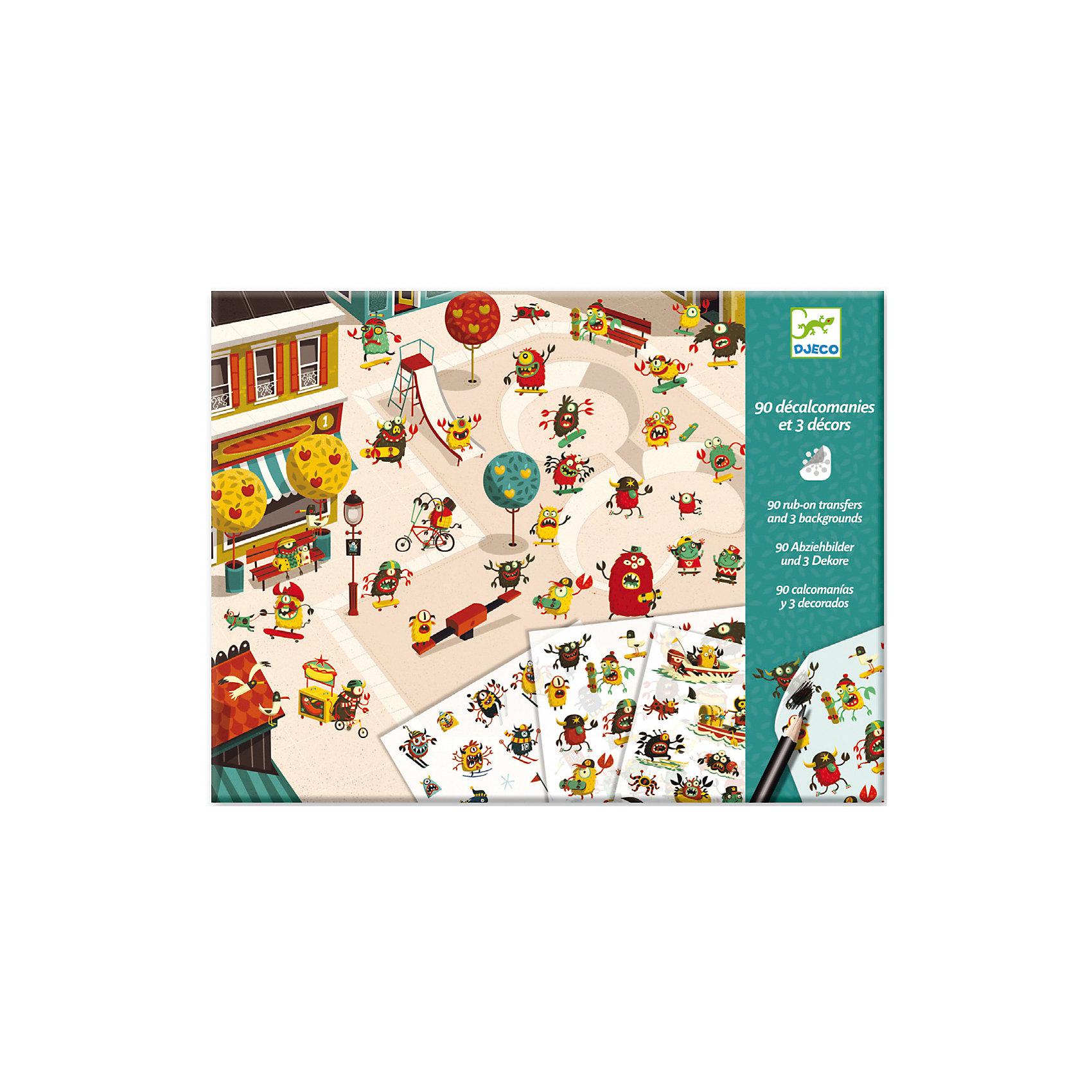 Набор с переводными наклейками Рай монстровНаборы для раскрашивания<br>Необычные наборы для детского творчества с наклейками от французского производителя Djeco (Джеко) - прекрасный подарок для каждого творческого ребенка! <br>В наборе Рай монстров ребенок найдет 3 ярких картинки, а также множество переводных наклеек с забавнымимонстриками. Наклейки легко переносятся с бумажной основы, достаточно лишь приложить картинку на картинку и потереть обратным концом карандаша, шариковой ручки или монеткой. Таким образом, дети могут создавать собственные истории и придумывать различные сюжеты в ходе игры. В наборе:  3 картинки размером 21 х 29,7 см, 2 листа с 90 переводными картинками размером 20 х 13 см, - подробная инструкция с примерами.<br><br>Набор с переводными наклейками Рай монстров можно купить в нашем магазине.<br><br>Ширина мм: 10<br>Глубина мм: 320<br>Высота мм: 240<br>Вес г: 160<br>Возраст от месяцев: 48<br>Возраст до месяцев: 96<br>Пол: Унисекс<br>Возраст: Детский<br>SKU: 4783877