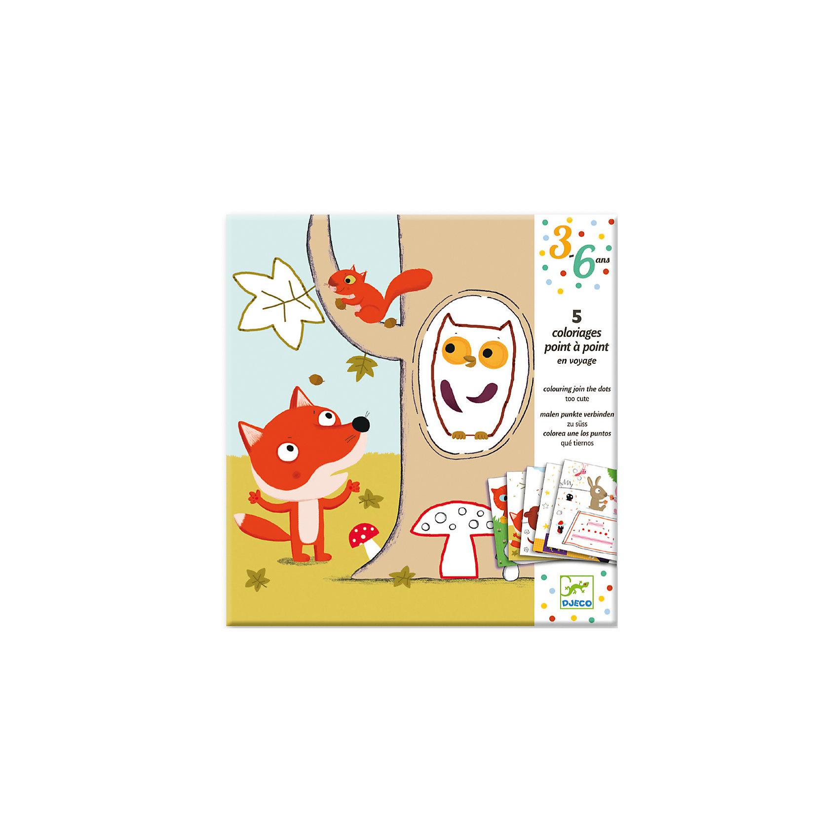 Раскраска Соедини точкиРаскраска по точкам Соедини точки от французского бренда Djeco - классическая раскраска для детей, учащихся рисовать и изучающих цифры и счет. Откройте в своём ребёнке талант художника! Раскраска состоит из 5 веселых картинок с животными с элементами, обозначенными точками и цифрами, указывающими порядок соединения деталей линиями. Для рисования можно использовать цветные карандаши, фломастеры или пастель. После соединения точек получившиеся фигуры можно раскрасить по образцам, размещённым на обратной стороне упаковки. Такие раскраски направлены на усвоение в игровой форме навыкам счета и порядку следования цифр. А раскрашивая получившиеся контуры, ребенок получит массу удовольствия и сможет проявить свои творческие способности. Рисование развивает у детей усидчивость, мелкую моторику и воображение. Размер листа: 20 х 20 см. В комплекте: 5 листов.<br><br>Раскраска Соедини точки можно купить в нашем магазине.<br><br>Ширина мм: 220<br>Глубина мм: 230<br>Высота мм: 10<br>Вес г: 100<br>Возраст от месяцев: 36<br>Возраст до месяцев: 72<br>Пол: Унисекс<br>Возраст: Детский<br>SKU: 4783881