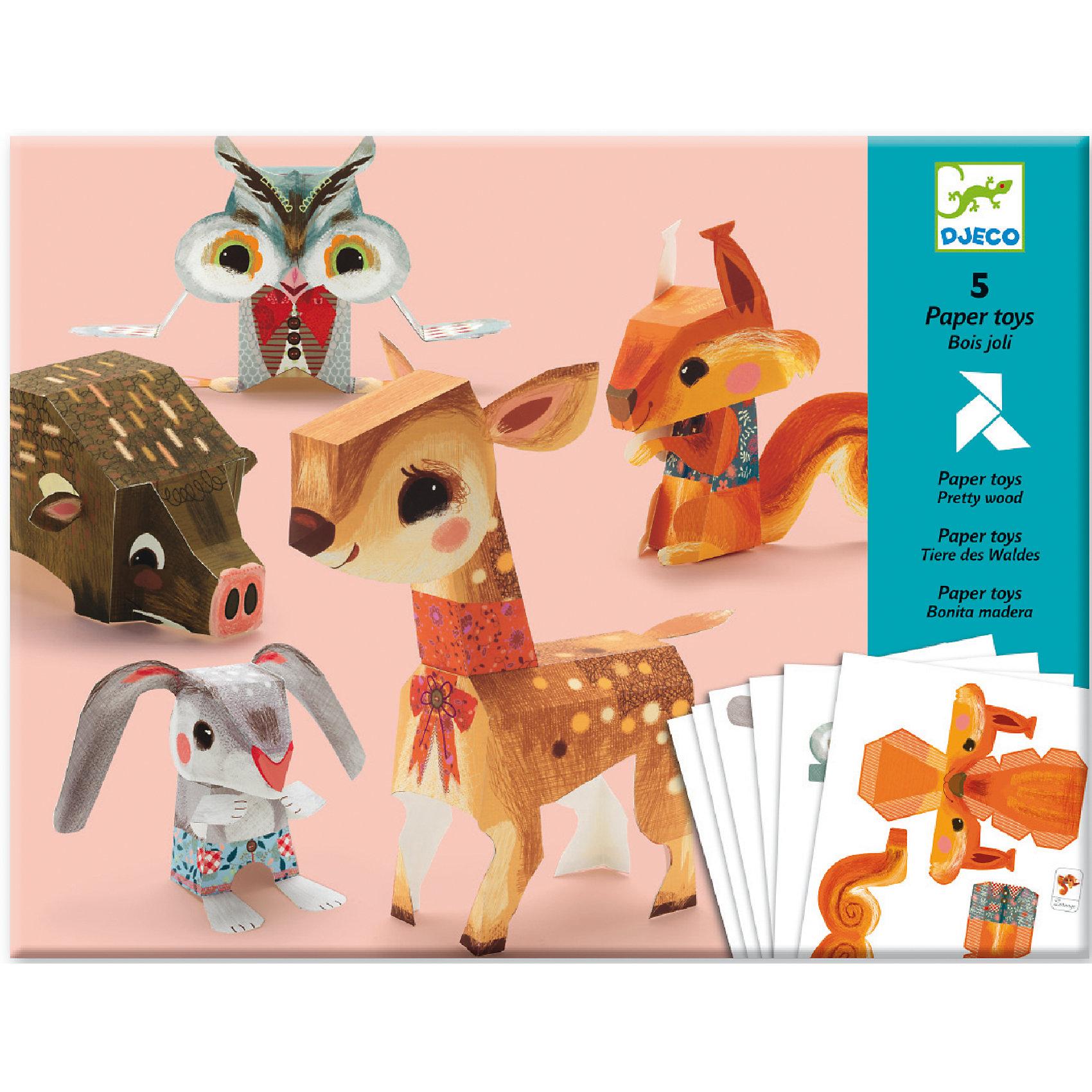 Волшебная бумага «Животные»Рукоделие<br>Волшебная бумага Животные – яркий и необычный набор для творчества от французской фирмы Djeco. Необходимо отделить фигурки животных от листа. Затем по инструкции согнуть бумагу в определенных местах и соединить детали. Получится пять маленьких симпатичных зверюшек. В наборе вы найдете симпатичного кролика и олененка, милую белочку, зайчика, ежика и сову. Фигурки могут стать украшением комнаты, их можно подарить или украсить ими новогоднюю елку. <br>Волшебная бумага поможет ребенку лучше узнать лесных обитателей. Игра с красивыми изображениями развивает художественный вкус. Выполняя сложные задачи ребенок учится аккуратно и усердно заниматься, доводить начатое до конца. Волшебная бумага Животные от французской компании Djeco станет прекрасным подарком для детей старше 7 лет. Набор для творчества Волшебная бумага Животные упакован в красивую подарочную коробку. В наборе: 6 листов с деталями<br>подробная инструкция<br><br>Волшебная бумага «Животные» можно купить в нашем магазине.<br><br>Ширина мм: 320<br>Глубина мм: 240<br>Высота мм: 10<br>Вес г: 220<br>Возраст от месяцев: 84<br>Возраст до месяцев: 156<br>Пол: Унисекс<br>Возраст: Детский<br>SKU: 4783884