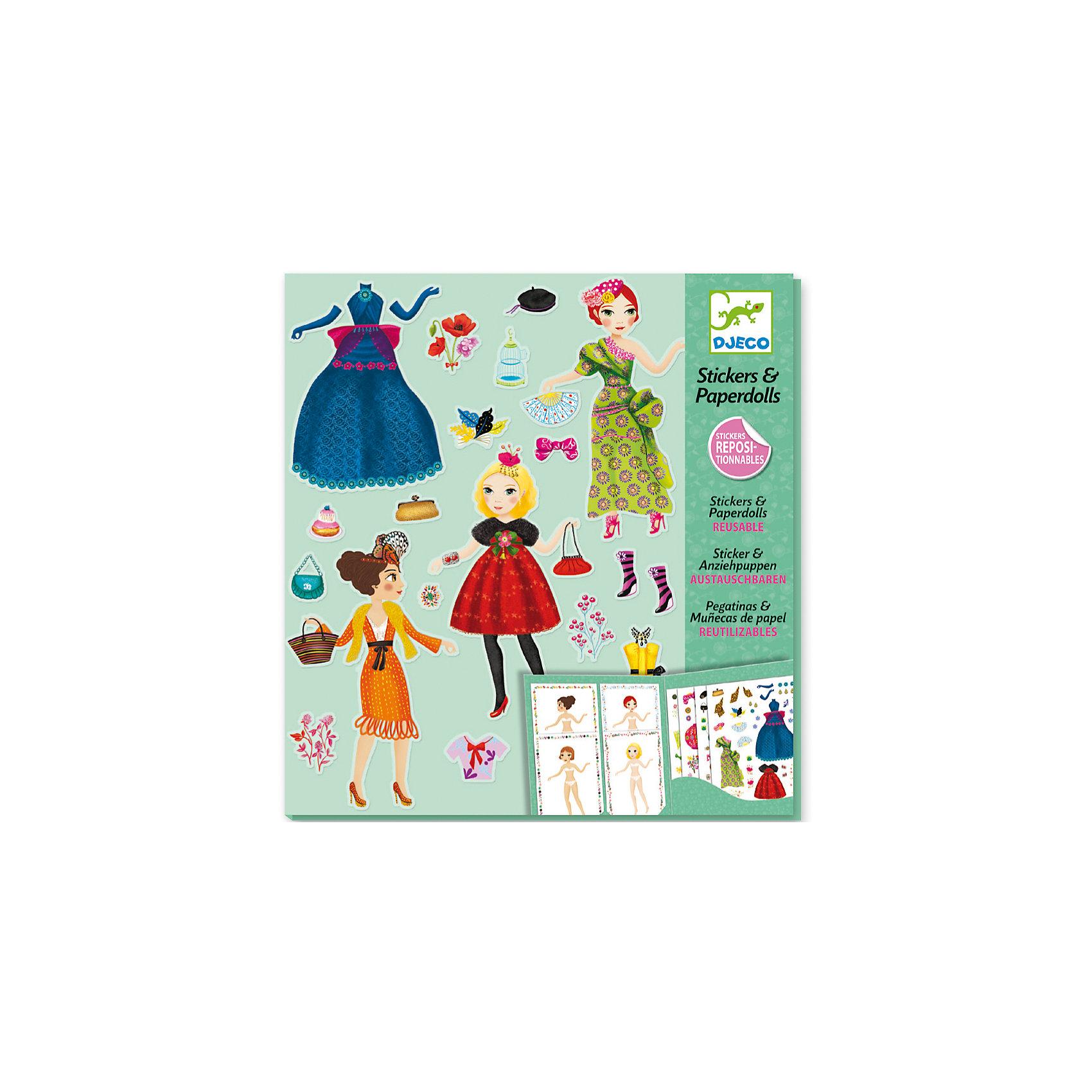 Набор-игра с наклейками «Мода»Увлекательный набор для творчества Мода от Djeco – прекрасный подарок для юных модниц! В составе набора Мода вы найдете бумажные фигуры девочек и различную одежду, с помощью которой нужно создать девочкам новые стильные образы. Наборы для творчества от Djeco развивают у ребенка фантазию и творческие способности, учат малыша внимательности и усидчивости. Все изображения созданы современными французскими художниками. В составе набора:<br>4 листа с различной одеждой, 8 бумажных девочек, блокнот для хранения. Рекомендуемый возраст: 6-11 лет.<br><br>Набор-игра с наклейками «Мода» можно купить в нашем магазине.<br><br>Ширина мм: 10<br>Глубина мм: 220<br>Высота мм: 240<br>Вес г: 270<br>Возраст от месяцев: 72<br>Возраст до месяцев: 132<br>Пол: Женский<br>Возраст: Детский<br>SKU: 4783886