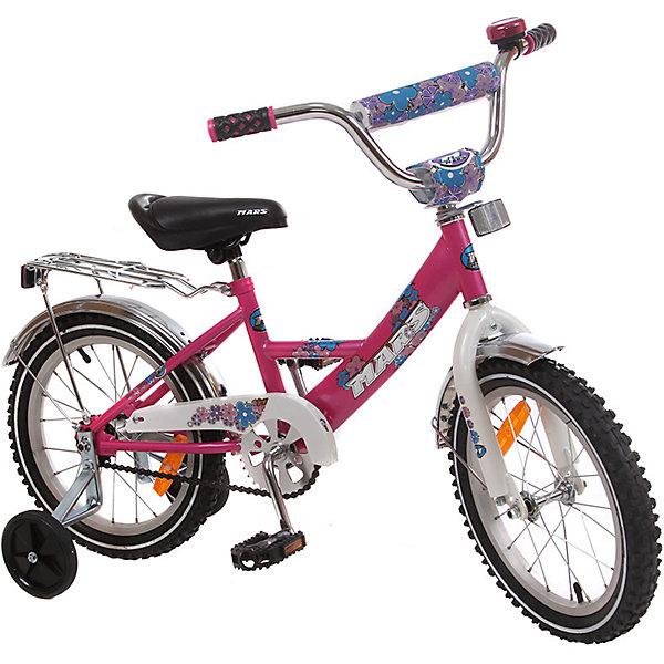 Велосипед с корзиной, MARS, темно-розовыйВелосипеды детские<br><br>Ширина мм: 600; Глубина мм: 600; Высота мм: 1000; Вес г: 13000; Возраст от месяцев: 36; Возраст до месяцев: 84; Пол: Унисекс; Возраст: Детский; SKU: 4785493;