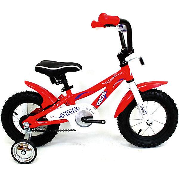 Велосипед RIDE, MARS, красныйВелосипеды детские<br>Характеристики товара:<br><br>• возраст: от 2 лет;<br>• материал: алюминий, пластик;<br>• тип колес: надувные;<br>• диаметр колес: 12 дюймов;<br>• регулировка сидения по высоте;<br>• вес велосипеда: 10 кг;<br>• страна производитель: Китай.<br><br>Велосипед Mars Ride красный способствует физическому развитию, укреплению мышц ног. Для малышей, которые только учатся кататься, предусмотрены 2 задних опорных колеса для лучшей устойчивости. Их можно снять, когда ребенок научится кататься. <br><br>Высота сидения регулируется под рост ребенка. Педали имеют рифленую поверхность, чтобы ножки не соскальзывали во время катания. Надувные колеса обеспечивают бесшумную езду. При помощи звонка ребенок сможет предупреждать прохожих. Рама выполнена из прочного алюминия.<br><br>Велосипед Mars Ride красный можно приобрести в нашем интернет-магазине.<br><br>Ширина мм: 400<br>Глубина мм: 400<br>Высота мм: 1000<br>Вес г: 10000<br>Возраст от месяцев: 24<br>Возраст до месяцев: 60<br>Пол: Унисекс<br>Возраст: Детский<br>SKU: 4785500
