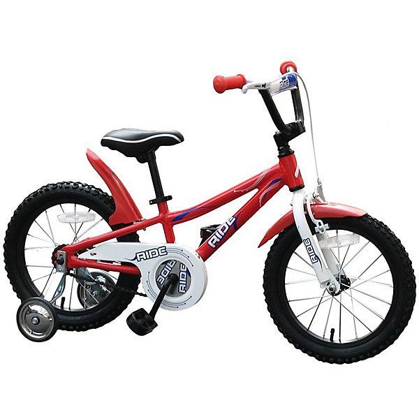 Велосипед RIDE, MARS, красныйВелосипеды детские<br>Характеристики товара:<br><br>• возраст: от 3 лет;<br>• материал: алюминий, пластик;<br>• тип колес: надувные;<br>• диаметр колес: 16 дюймов;<br>• регулировка сидения по высоте;<br>• вес велосипеда: 11 кг;<br>• страна производитель: Китай.<br><br>Велосипед Mars Ride красный способствует физическому развитию, укреплению мышц ног. Для малышей, которые только учатся кататься, предусмотрены 2 задних опорных колеса для лучшей устойчивости. Их можно снять, когда ребенок научится держать равновесие. <br><br>Высота сидения регулируется под рост ребенка. Педали имеют рифленую поверхность, чтобы ножки не соскальзывали во время катания. Надувные колеса обеспечивают бесшумную езду. При помощи звонка ребенок сможет предупреждать прохожих. Ручной тормоз на руле гарантирует безопасную езду и быстрое торможение. Рама выполнена из прочного алюминия.<br><br>Велосипед Mars Ride красный можно приобрести в нашем интернет-магазине.<br><br>Ширина мм: 600<br>Глубина мм: 600<br>Высота мм: 1000<br>Вес г: 11200<br>Возраст от месяцев: 36<br>Возраст до месяцев: 84<br>Пол: Унисекс<br>Возраст: Детский<br>SKU: 4785505