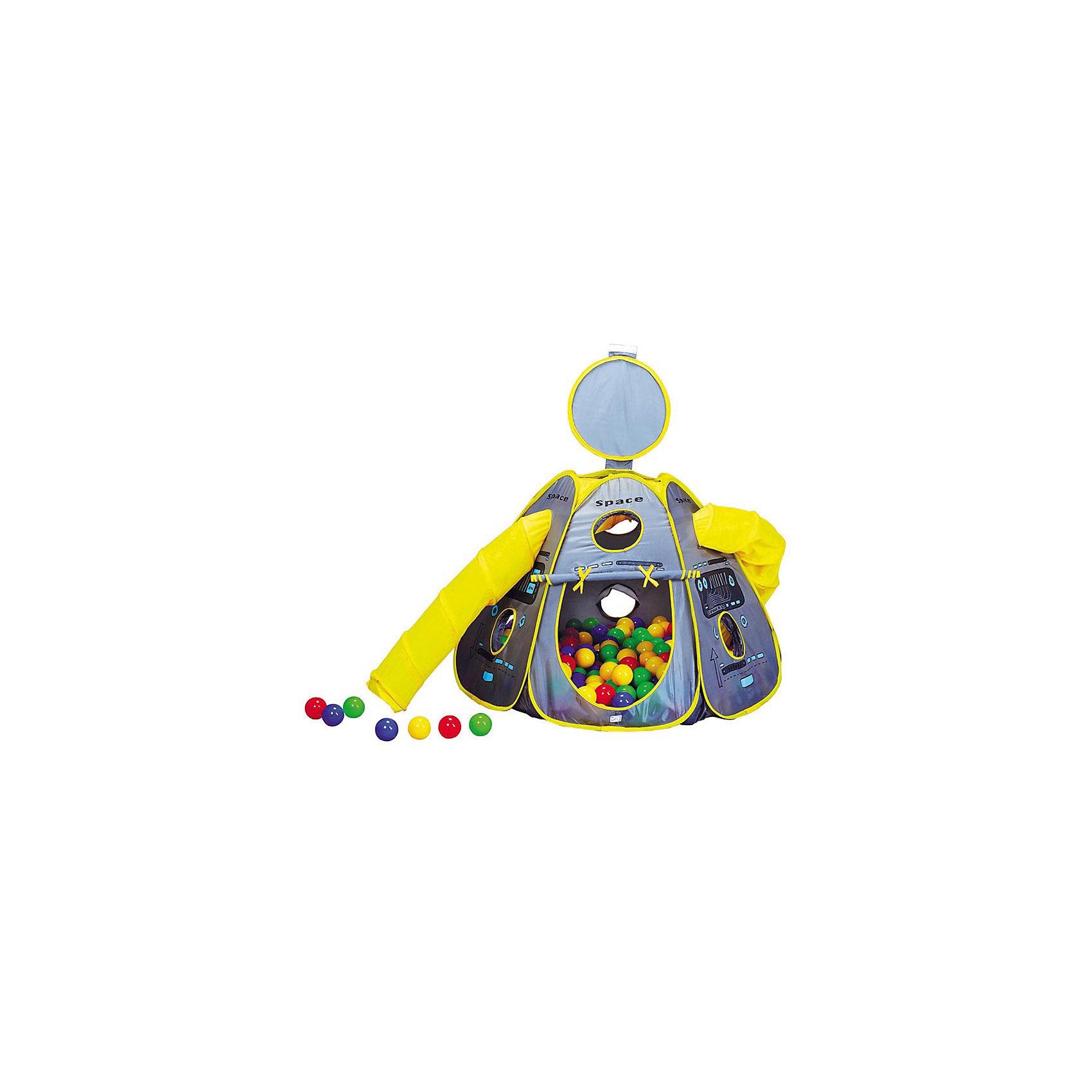 Игровой дом Космический корабль, 100х100х80 см, CALIDA<br><br>Ширина мм: 1000<br>Глубина мм: 1000<br>Высота мм: 800<br>Вес г: 2600<br>Возраст от месяцев: 36<br>Возраст до месяцев: 96<br>Пол: Унисекс<br>Возраст: Детский<br>SKU: 4785510