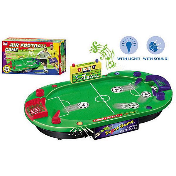 Игровой набор Аэрофутбол, XIONG CHENGИгровые наборы<br>Характеристики товара:<br><br>• возраст: от 3 лет;<br>• материал: пластик;<br>• тип батареек: 3 батарейки типа С;<br>• наличие батареек: в комплект не входят;<br>• размер игрушки: 57х51х60 см;<br>• вес упаковки: 1,13 кг;<br>• страна производитель: Китай.<br><br>Игровой набор «Аэрофутбол» Xiong Cheng — увлекательная игра в настольный футбол. Как и в обычном футболе, цель — забить как можно больше голов. На игровом поле расположены ворота и табло, которое ведет счет забитым мячам. Голы нужно забивать, управляя подвижными деталями на поле при помощи боковых кнопок. Игрушка оснащена световыми и звуковыми эффектами.<br><br>Игровой набор «Аэрофутбол» Xiong Cheng можно приобрести в нашем интернет-магазине.<br><br>Ширина мм: 570<br>Глубина мм: 500<br>Высота мм: 590<br>Вес г: 1130<br>Возраст от месяцев: 36<br>Возраст до месяцев: 120<br>Пол: Унисекс<br>Возраст: Детский<br>SKU: 4785511