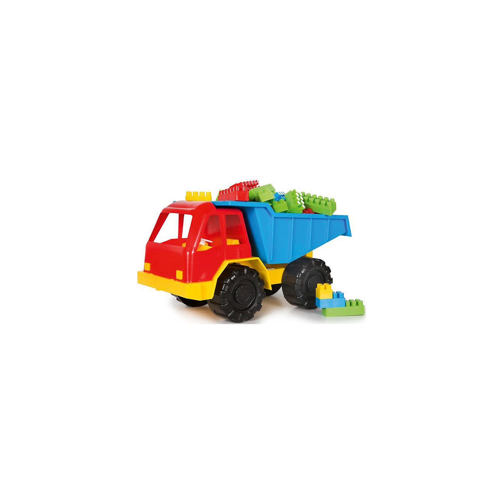 Грузовик + Комби Блок, КАССОНГрузовик + Комби Блок, КАССОН.<br><br>Характеристики:<br><br>- Материал: пластик<br>- Цвет: красный, синий, желтый.<br><br>Такая игрушка, безусловно, привлечет внимание вашего мальчика. Модель выполнена  из яркого безопасного пластика. Игрушка представляет собой модель автомобиля спецтехники «Самосвал». Она выполнена из качественного и безопасного пластика. Колеса машинки имеют свободный ход. В кузове грузовичка находятся разноцветные блоки, из которых можно построить домик. С такой игрушкой ваш ребенок сможет придумывать и обыгрывать различные игровые сюжеты. Порадуйте своего мальчика, подарив ему такую машинку!<br><br>Грузовик + Комби Блок, КАССОН можно купить в нашем интернет - магазине.<br><br>Ширина мм: 300<br>Глубина мм: 300<br>Высота мм: 300<br>Вес г: 400<br>Возраст от месяцев: 36<br>Возраст до месяцев: 84<br>Пол: Мужской<br>Возраст: Детский<br>SKU: 4785514